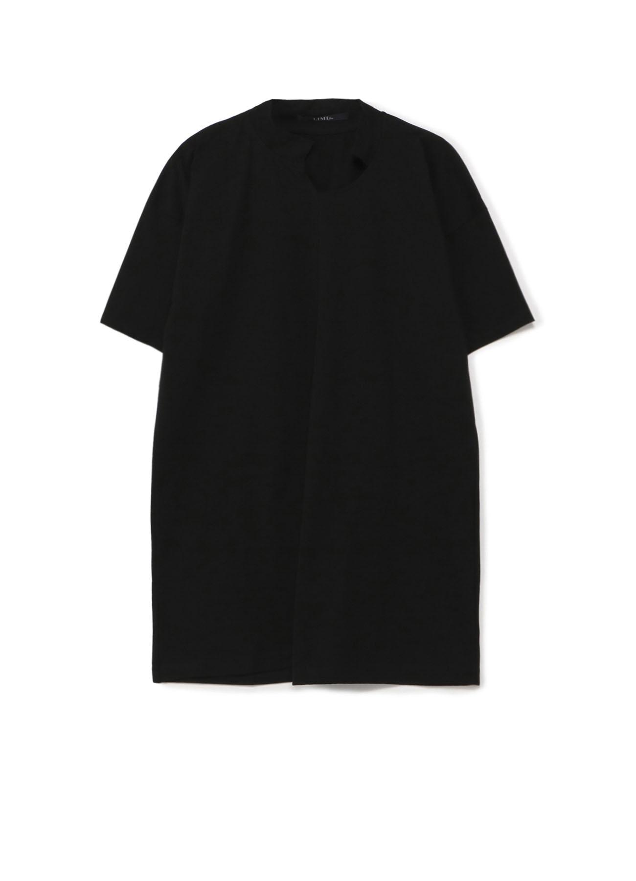错位长款短袖T恤