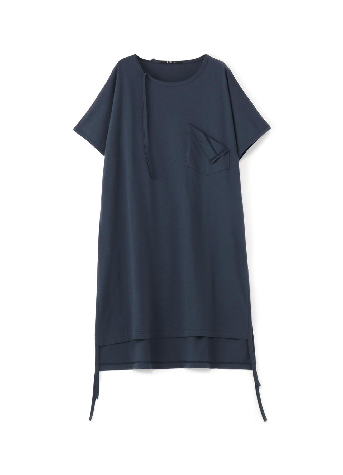 吊绳装饰短袖长款T恤