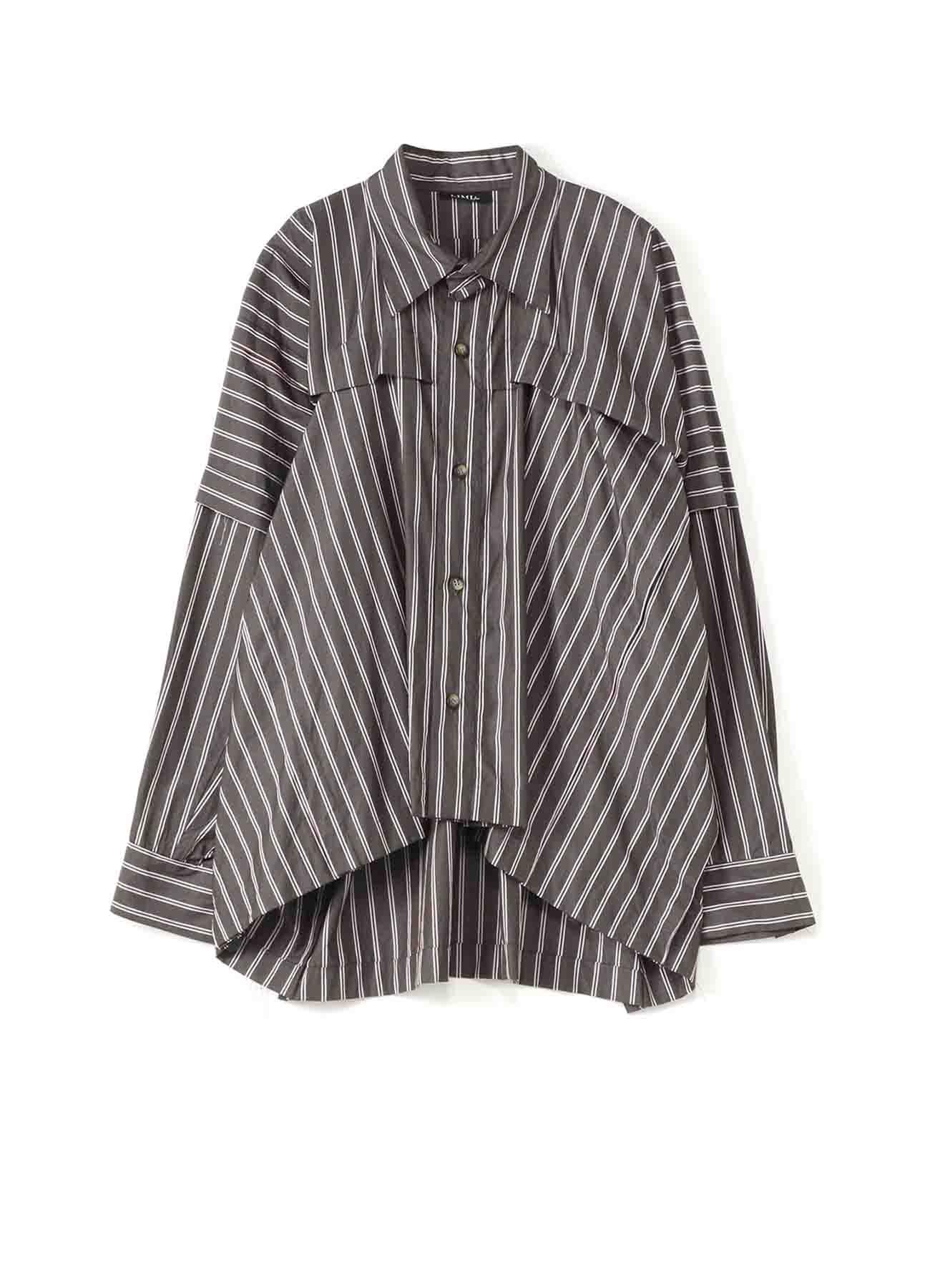 シャツストライプタックシャツ
