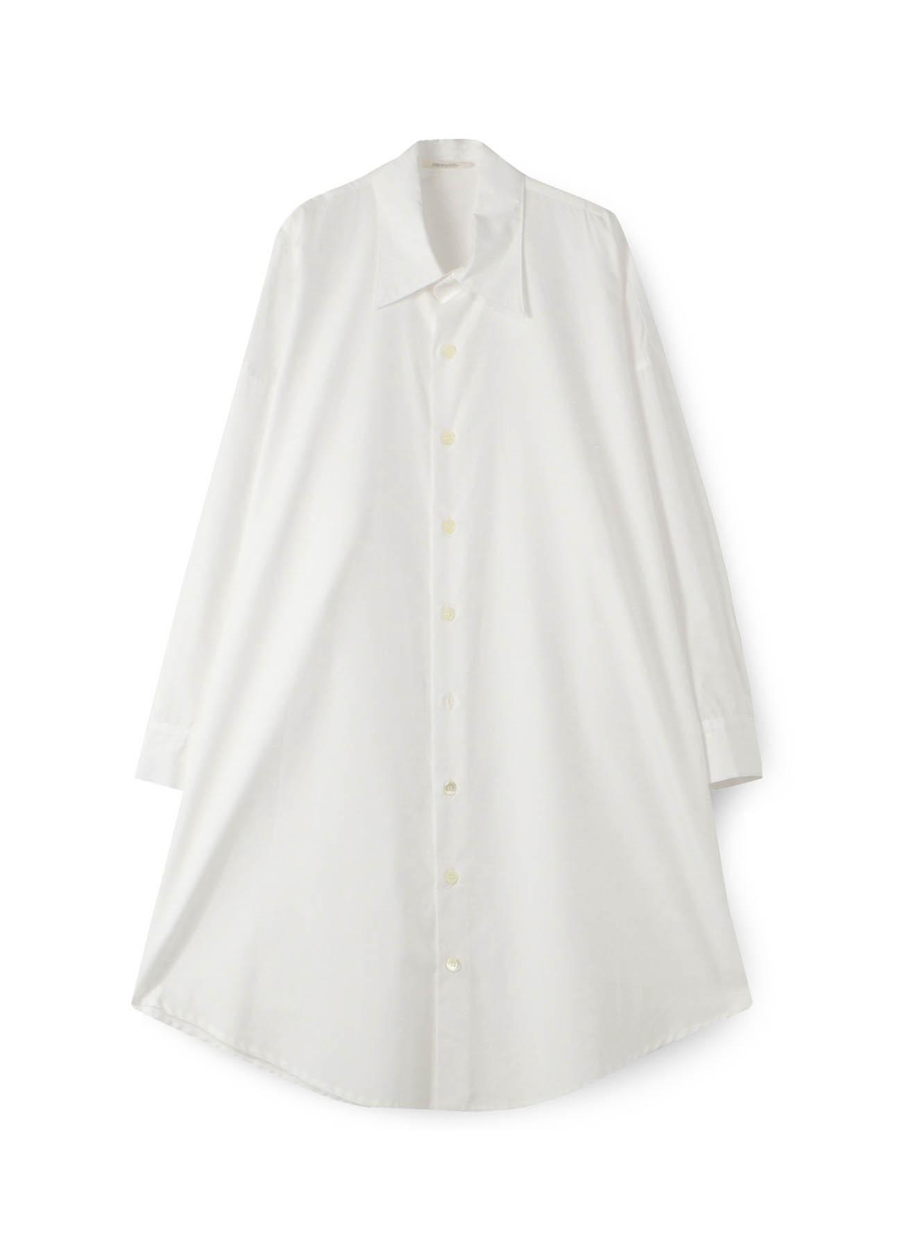 100/2 ブロードBロングシャツドレス