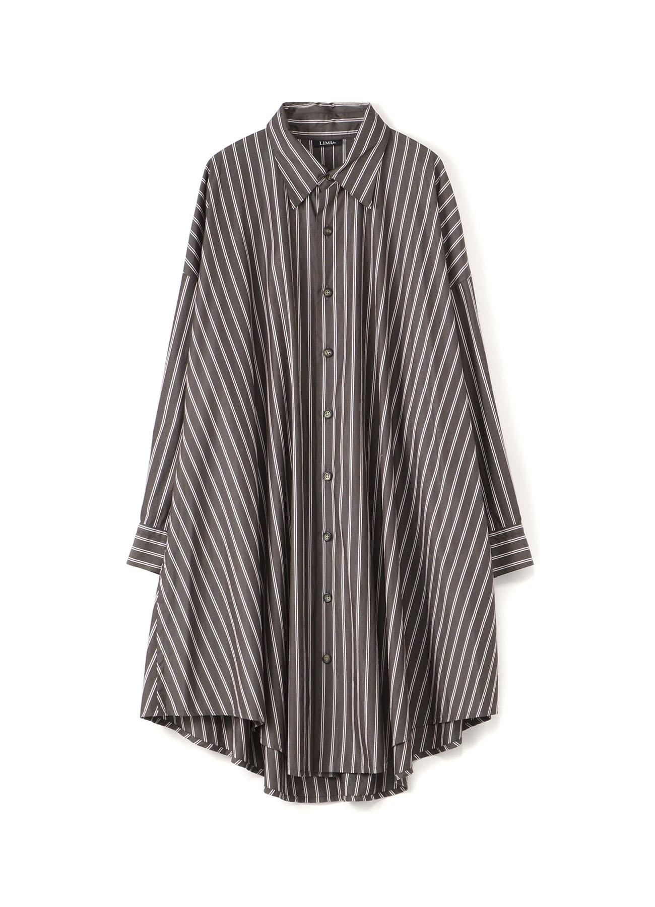 シャツストライプロングシャツドレス