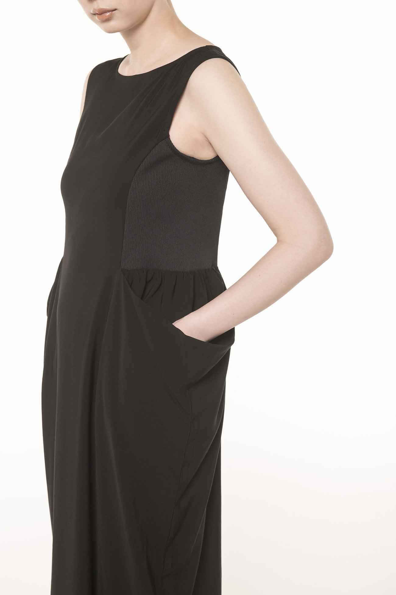Ry/Cu ギャバタレポケットドレス
