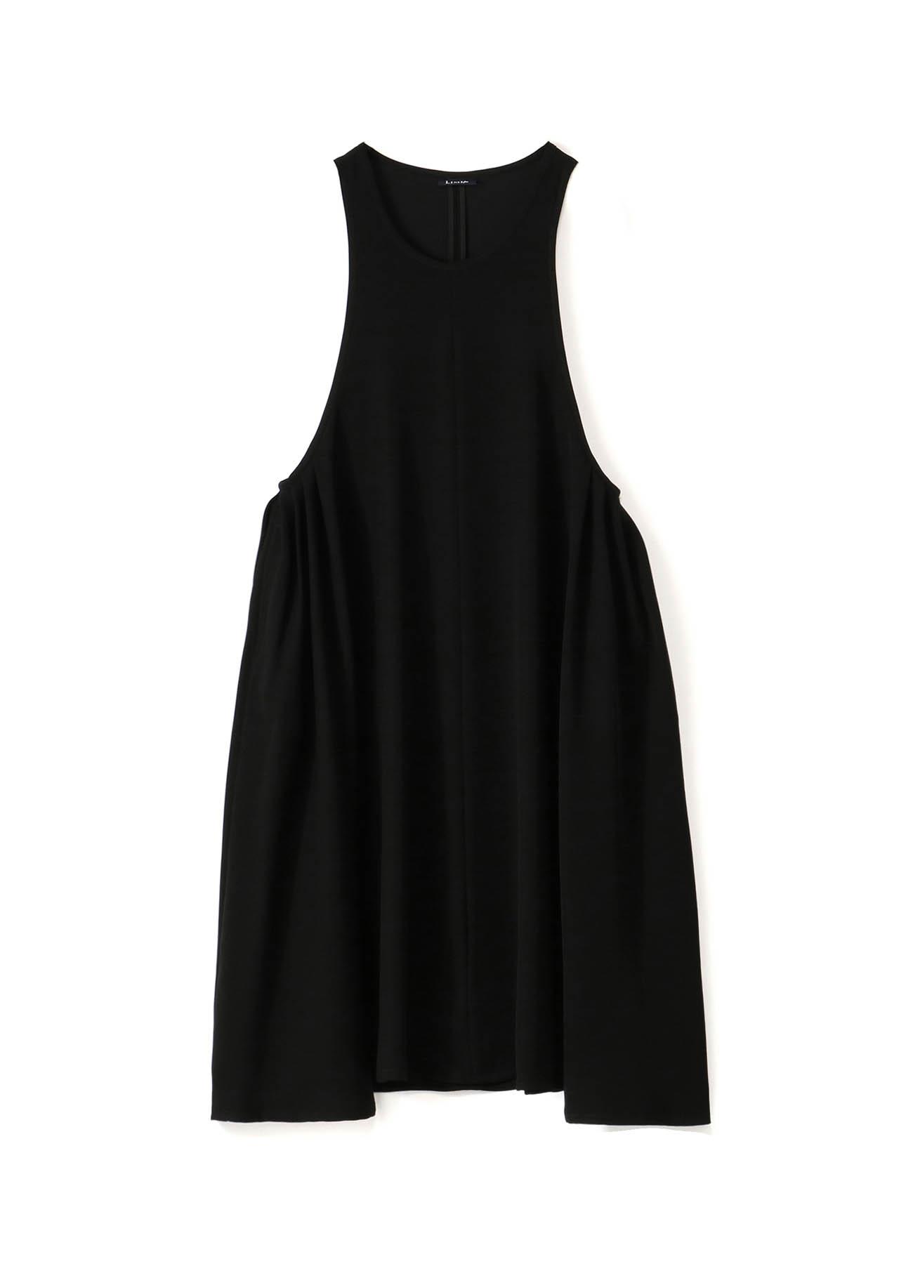 Double Satin Side Tuck Dress