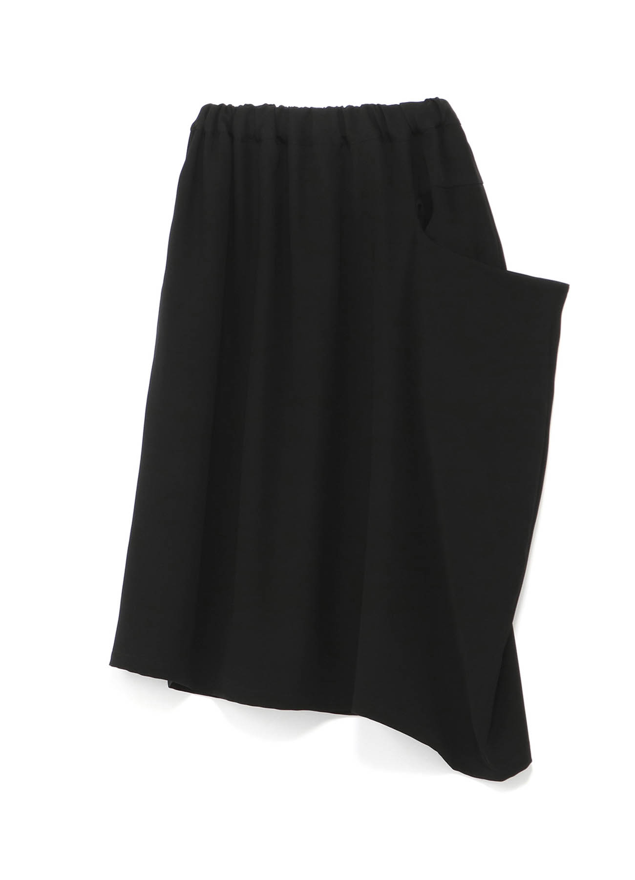 Double Satin Drop Pocket Skirt