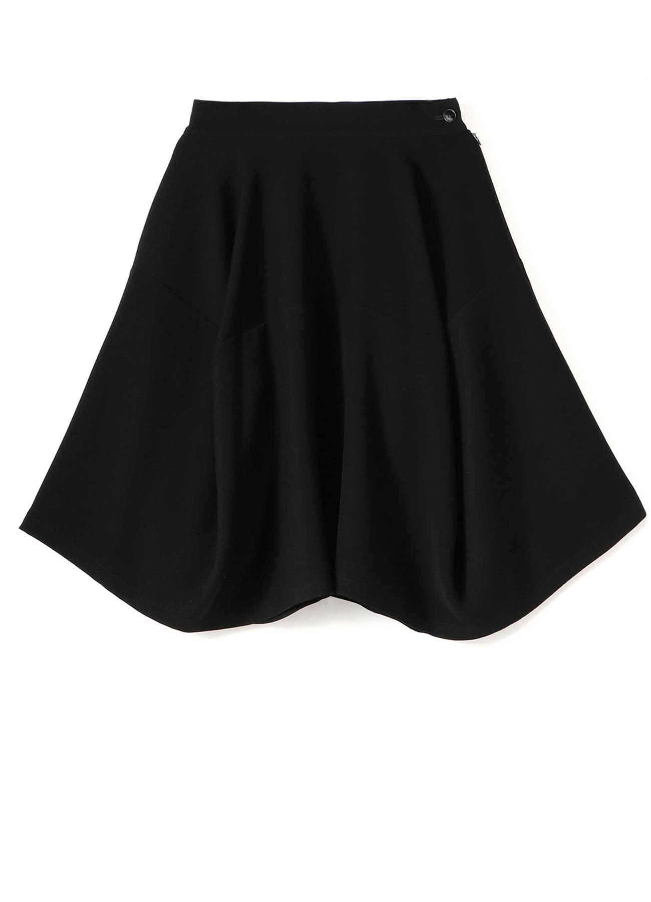 Double Satin Paneled Skirt
