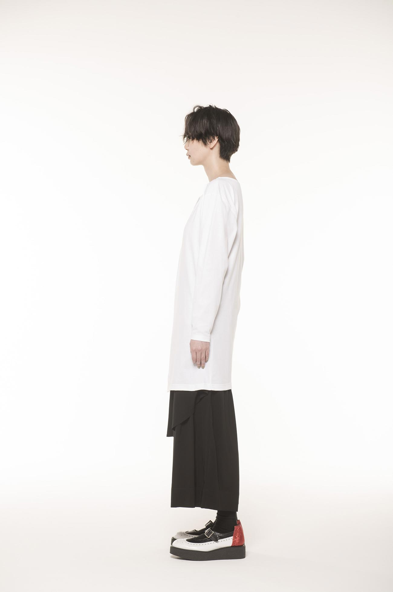 18/- C空紡天竺段差ロンT