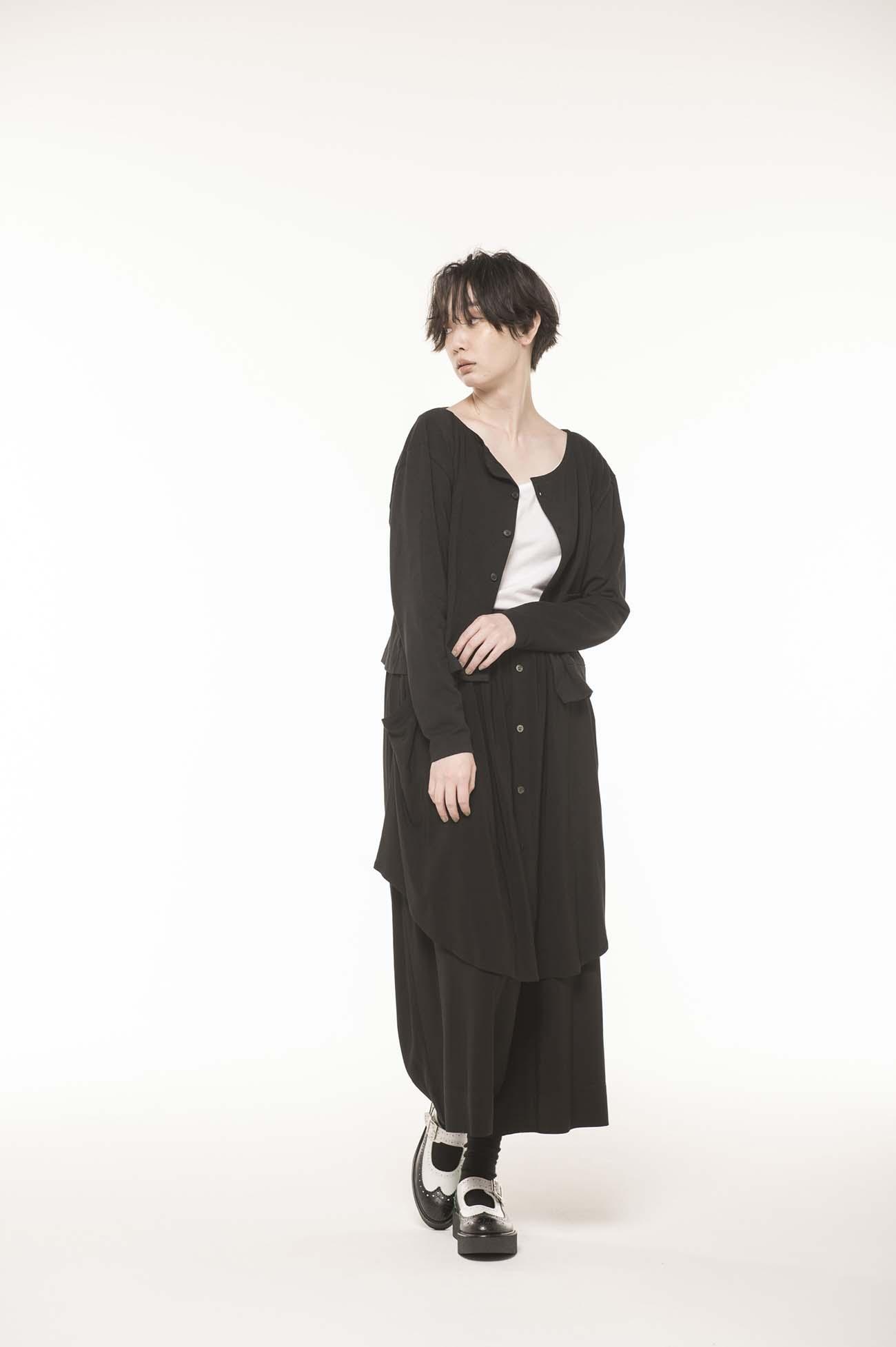 18/- C空紡天竺段差カーデ