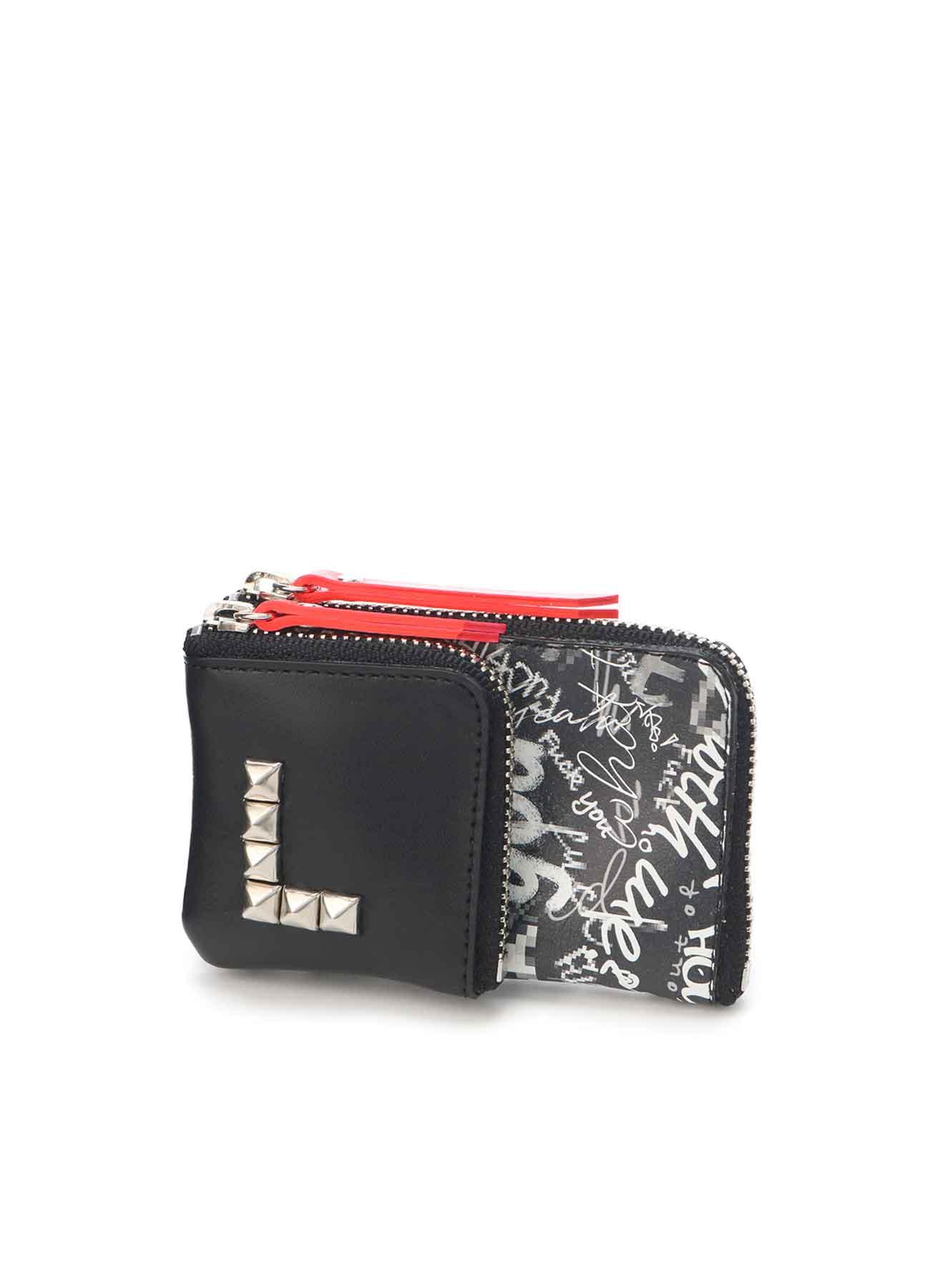 Mosaic FU*K Print Combi B Mini Wallet