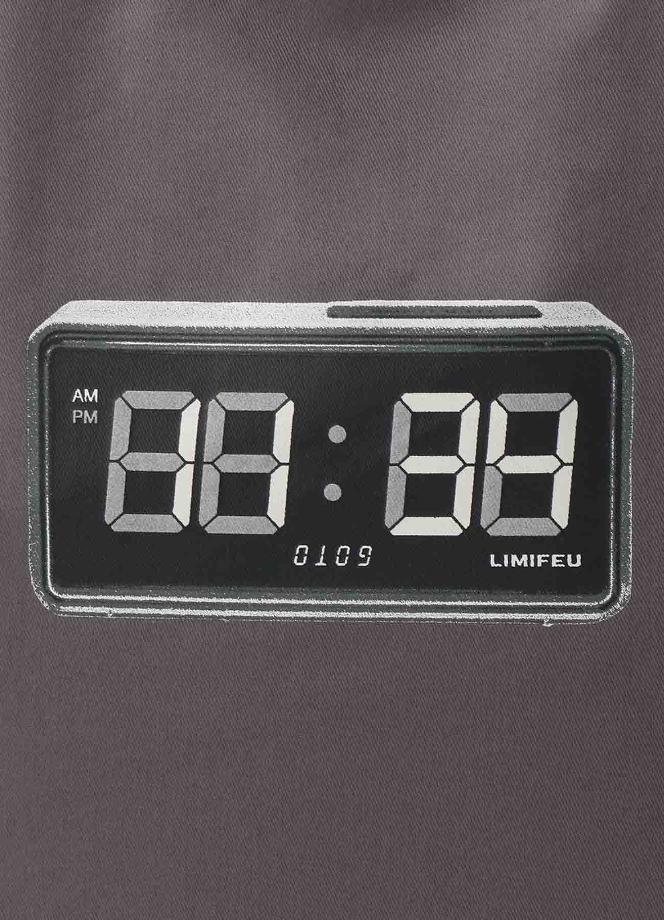 Clock Print Cotton Tote Bag