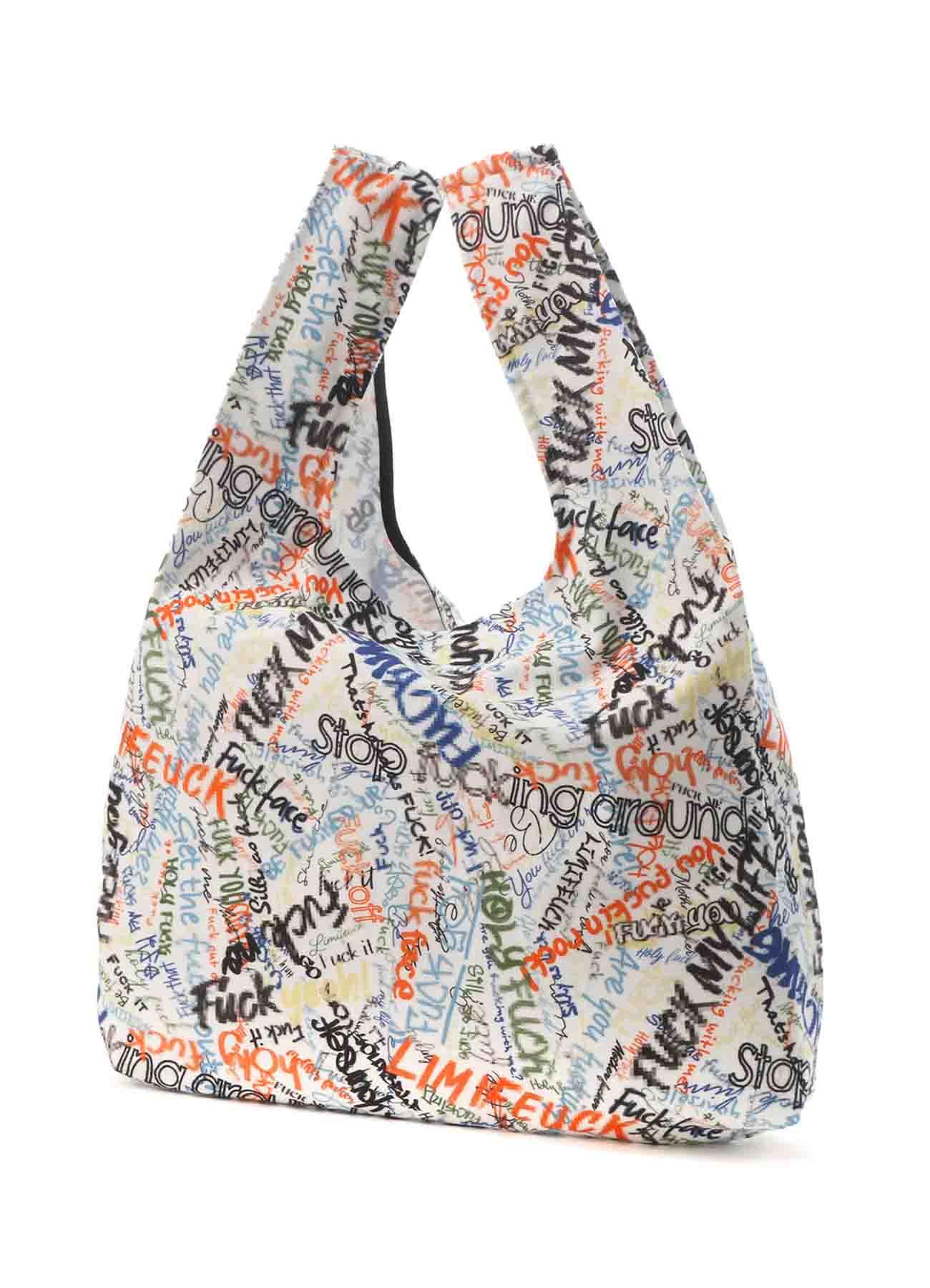 Mosaic FU*K Print Cotton Shopping Bag