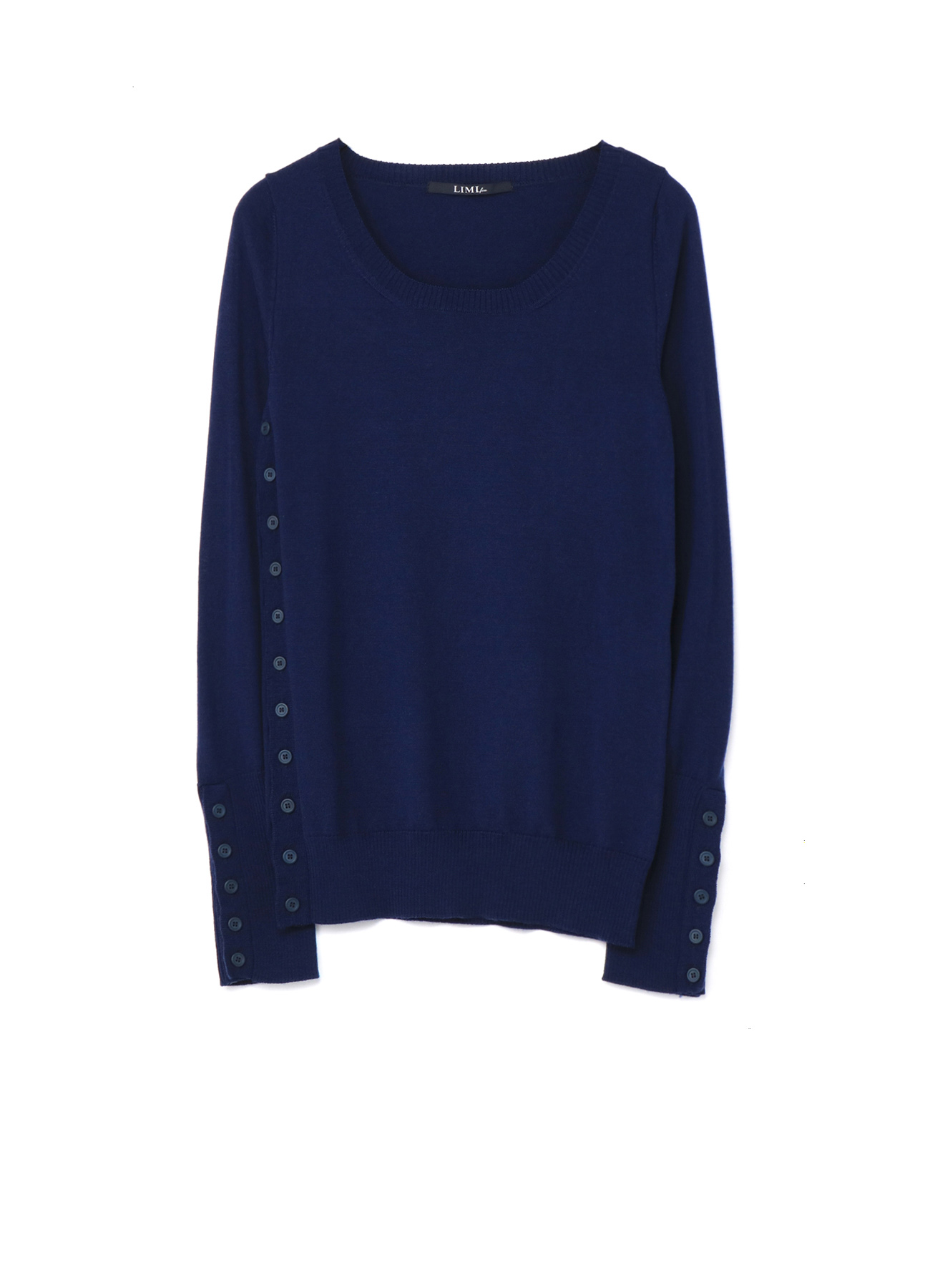 W/Washable Season Colour Side Buttoned Sweater