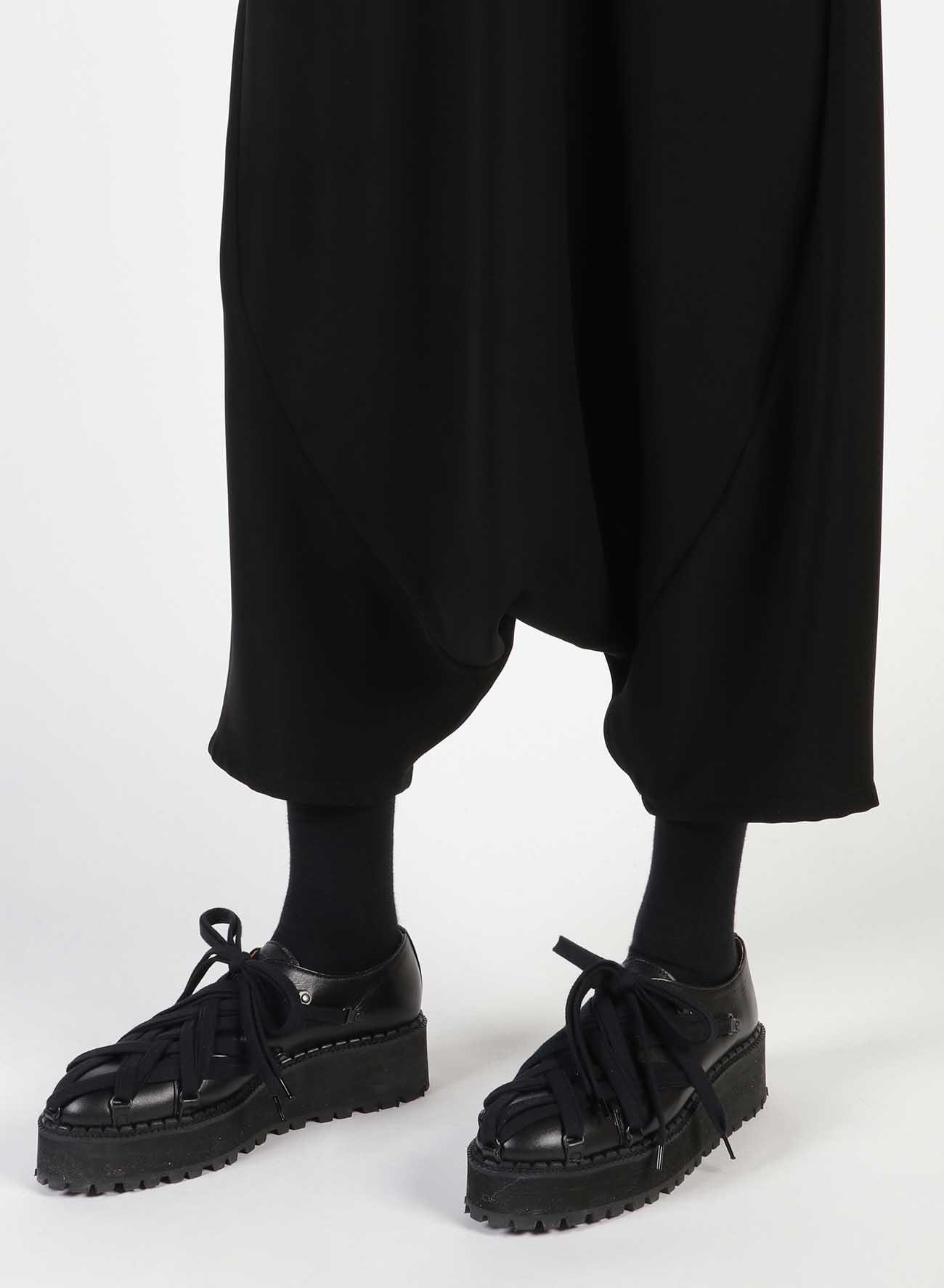 Double Satin Curvy Patch Sarouel Pants