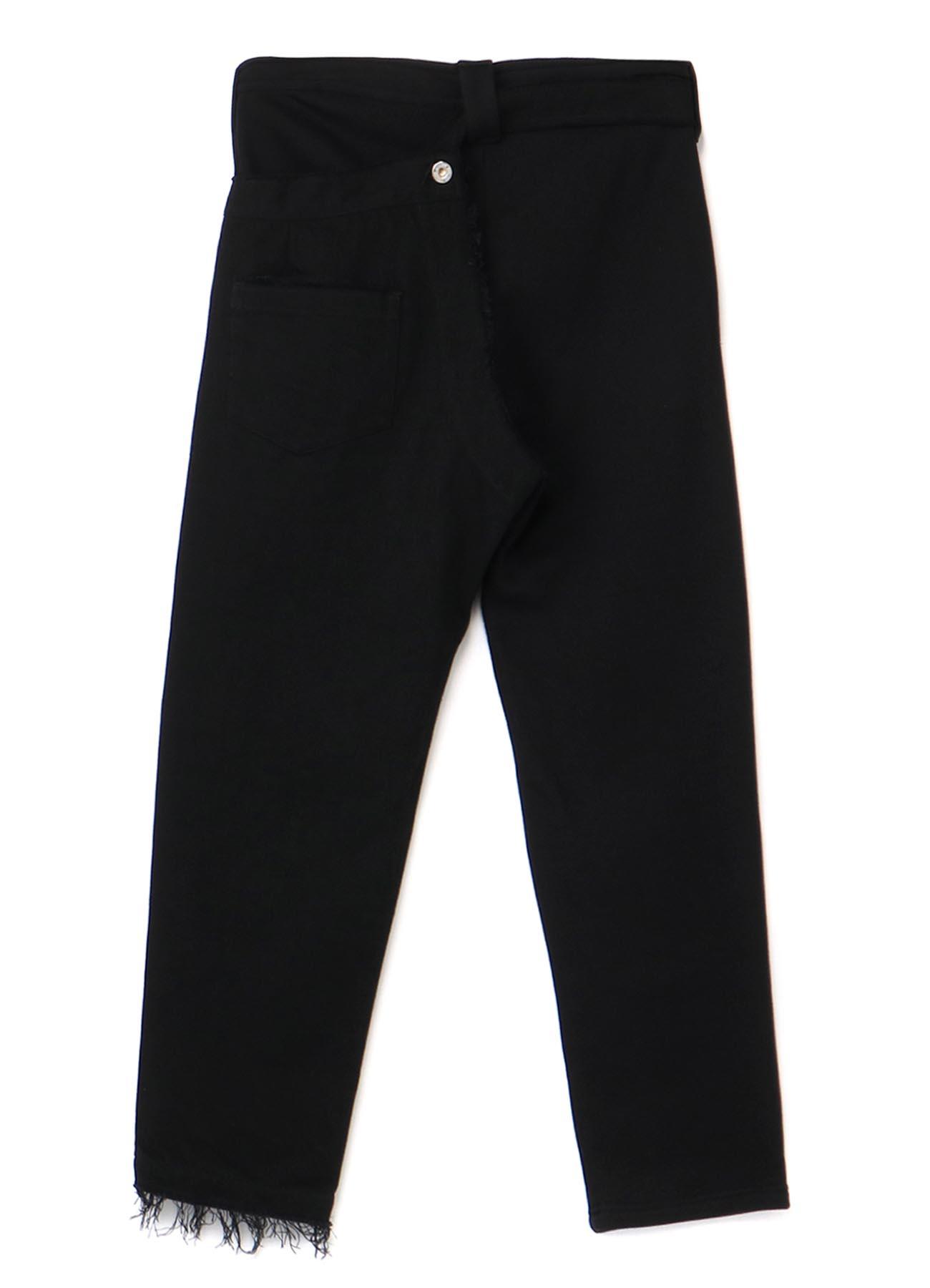 Denim+Fleece Combi Left Layered Pants