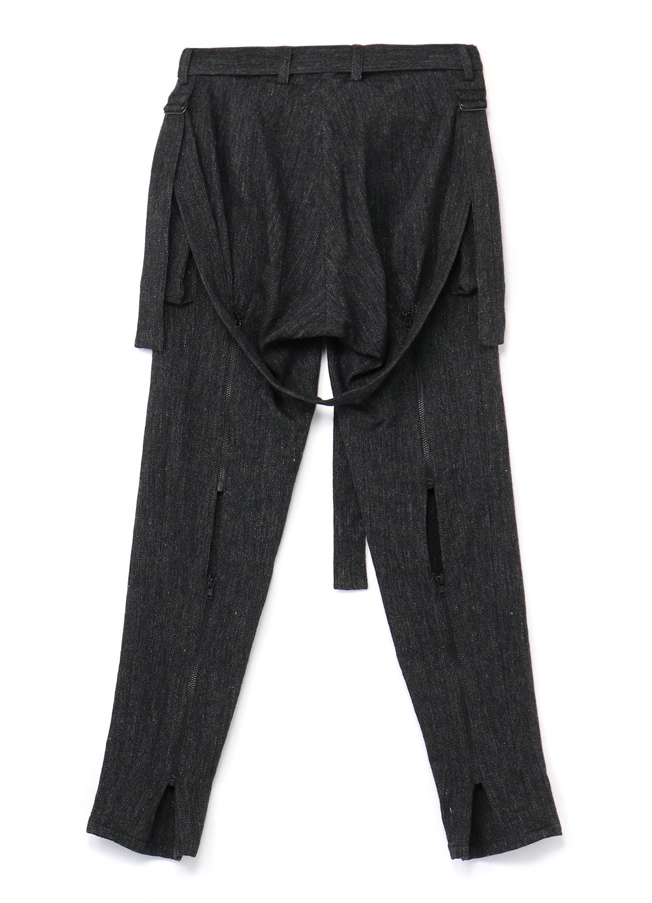 Li/W Herringbone Long Tape Pants