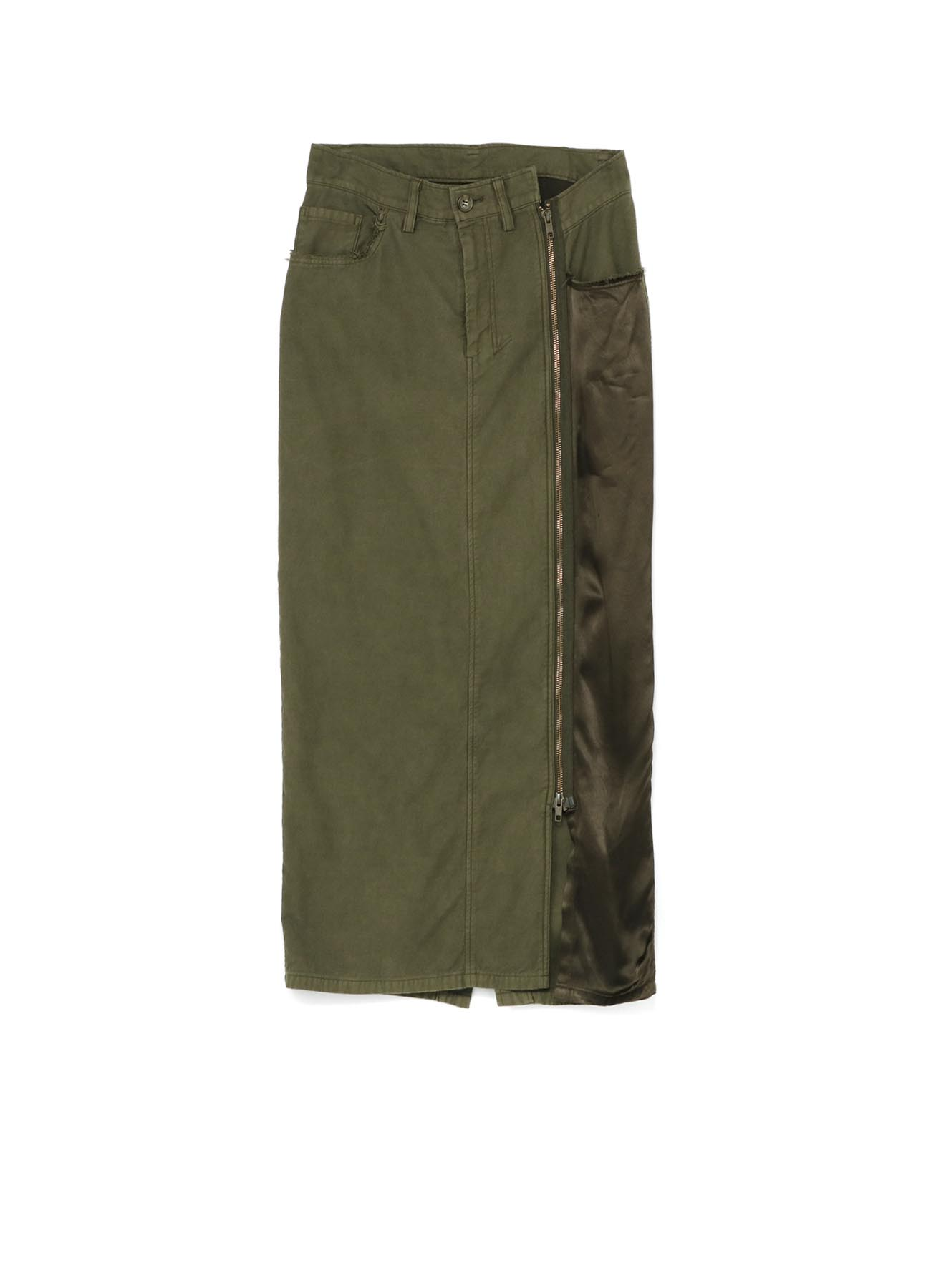 Dyed Back Satin Tight Fastener Skirt