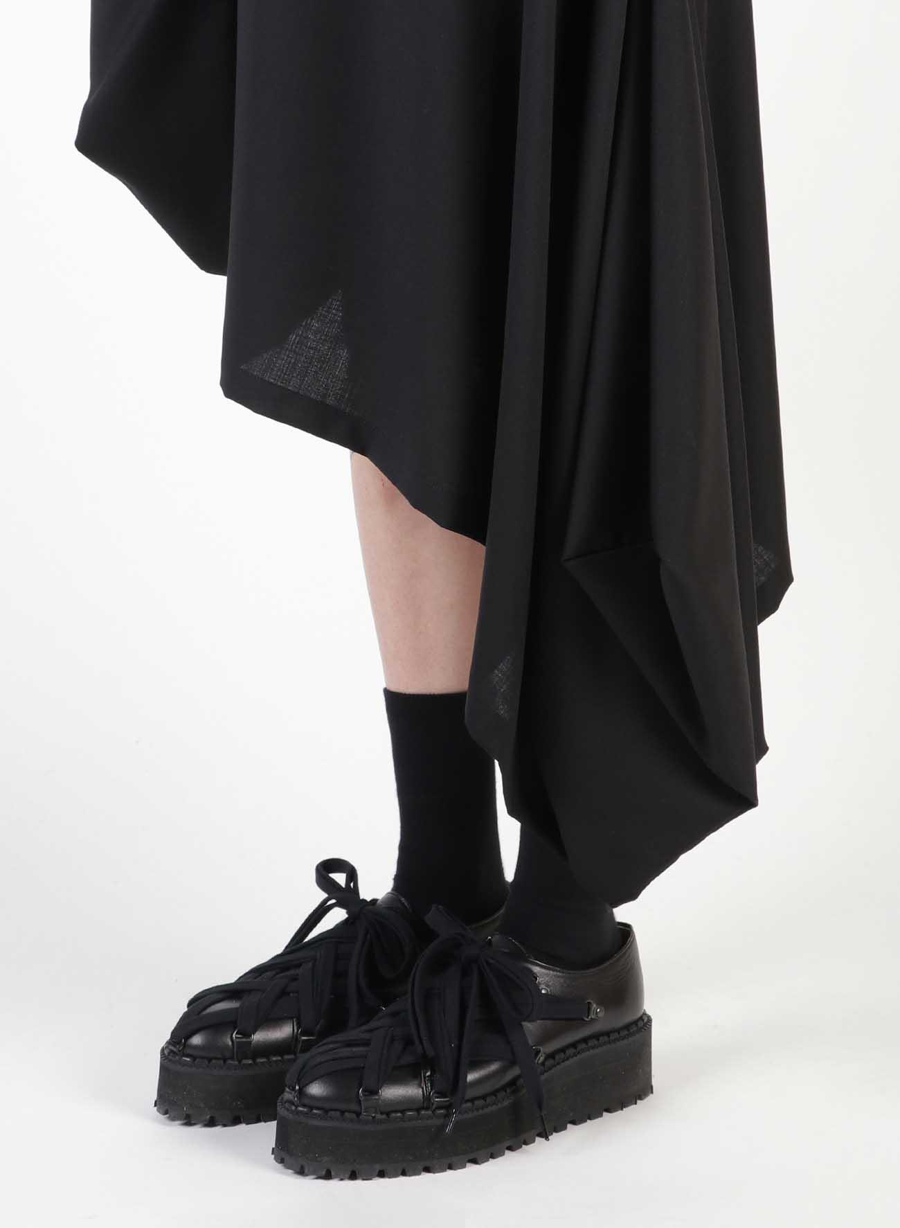W/Moh Tropical Square Left Long Skirt