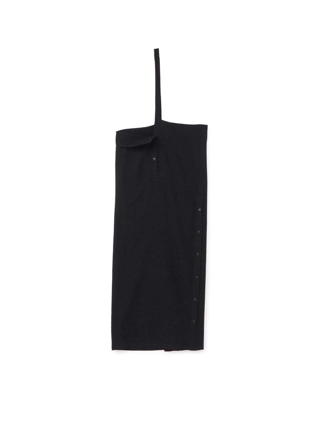 Light Serge Button Apron Skirt