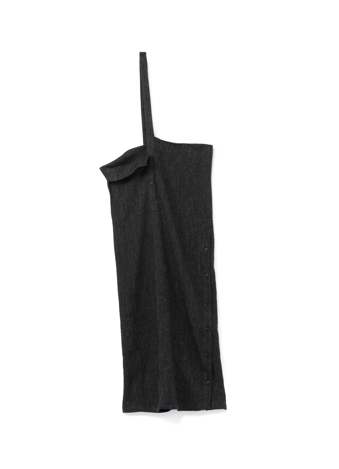 Li/W Herringbone Button Hanging Skirt