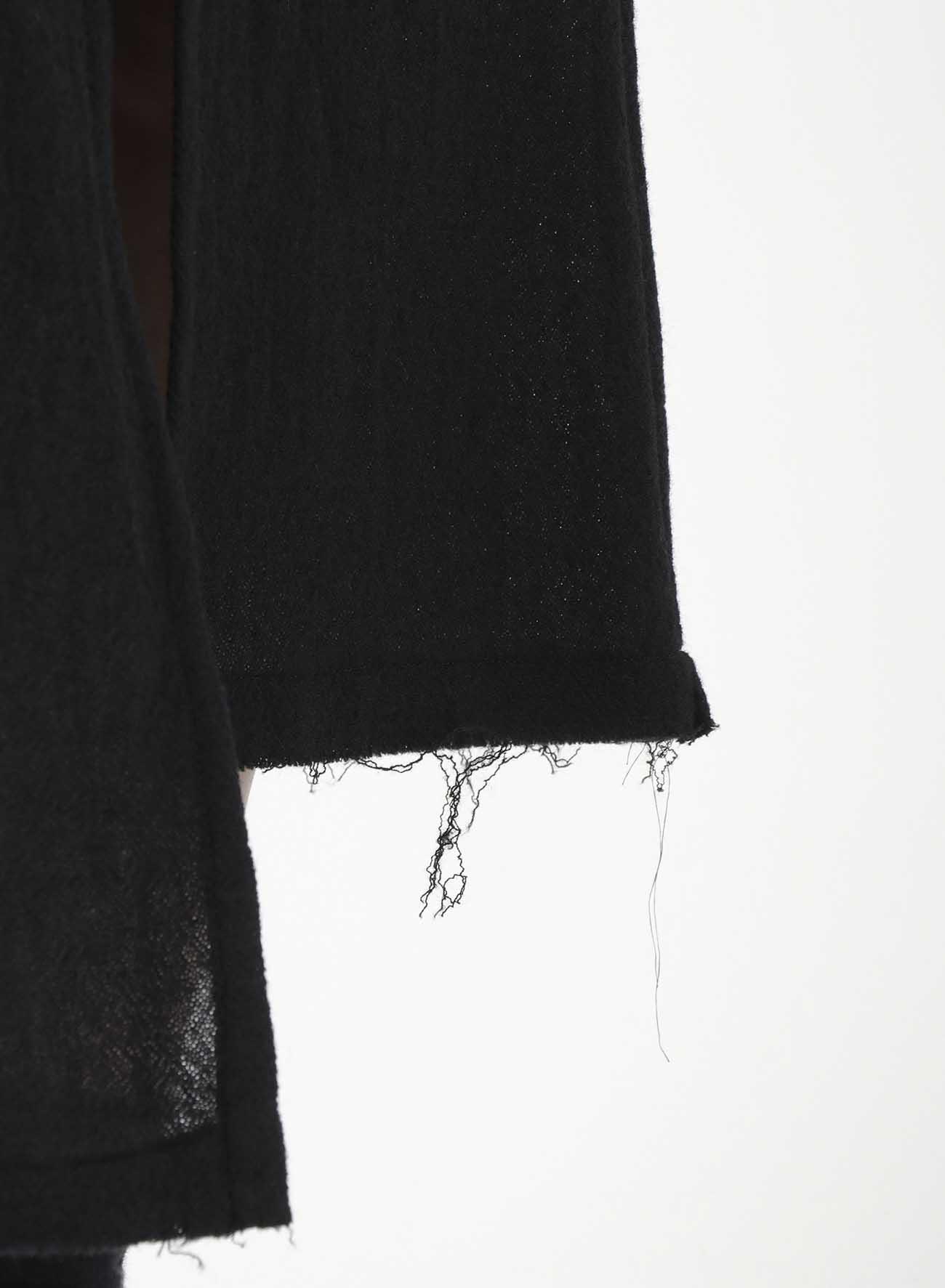 Wool Gauze Asymmetry Tight Skirt