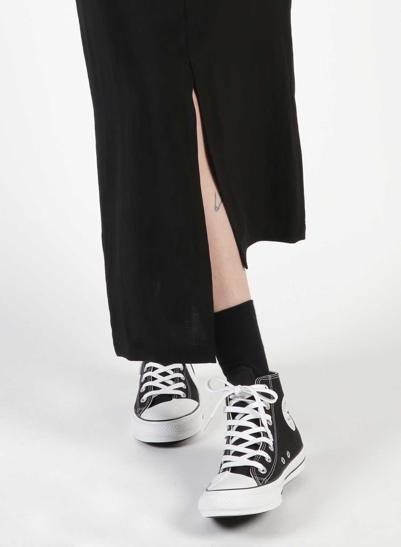 Ly/Cu Gabardine Asymmetry Tight Skirt