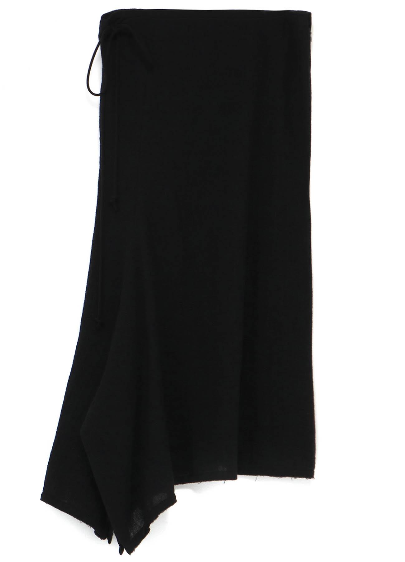 Wool Gauze Side Gathar Skirt