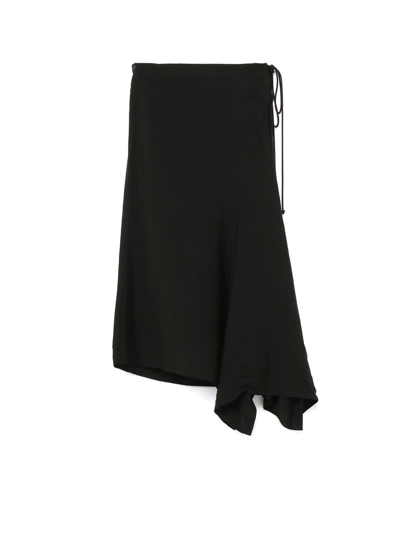 Ly/Cu Gabardine Side Gather Skirt