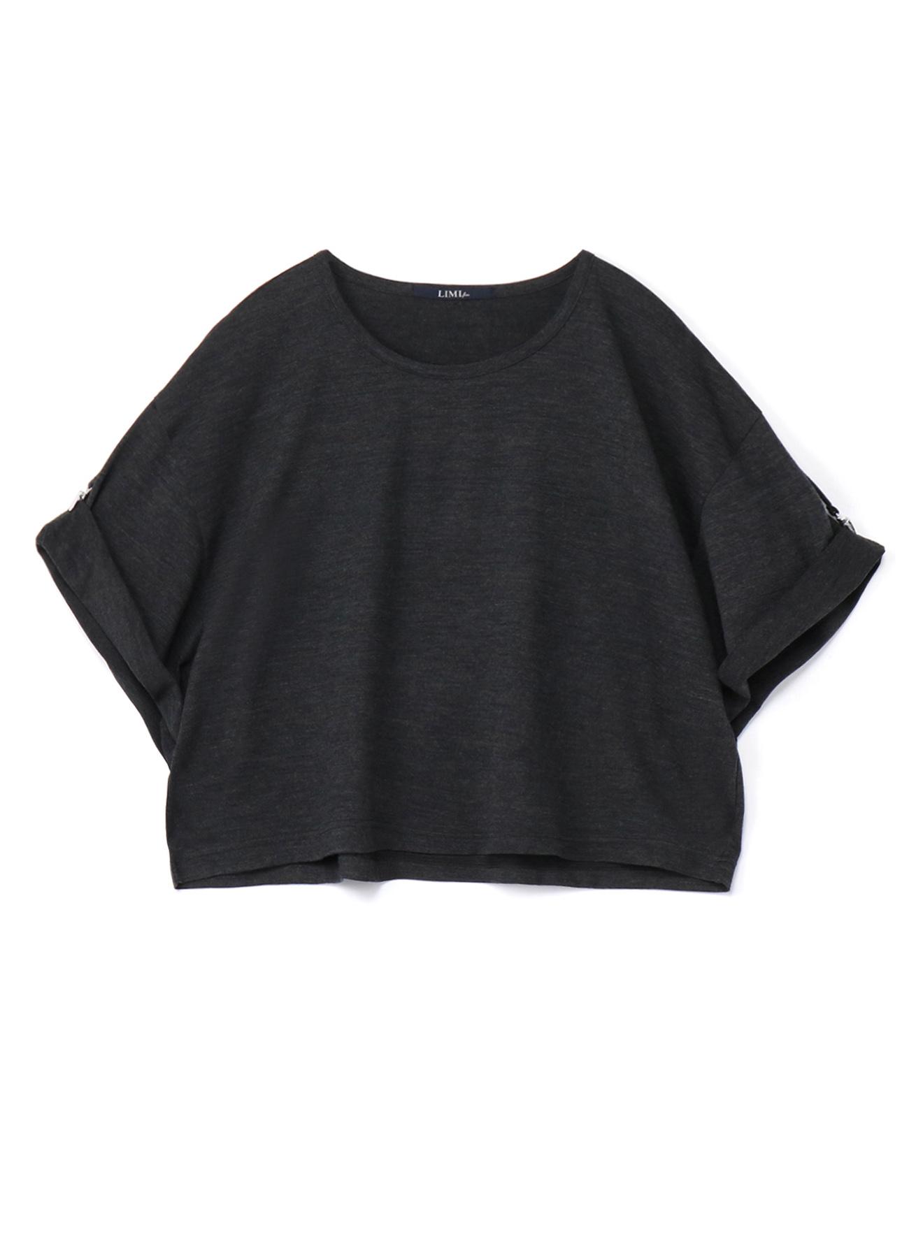Silky Wool Plain stitch Susupender Half Sleeve T-Shirt