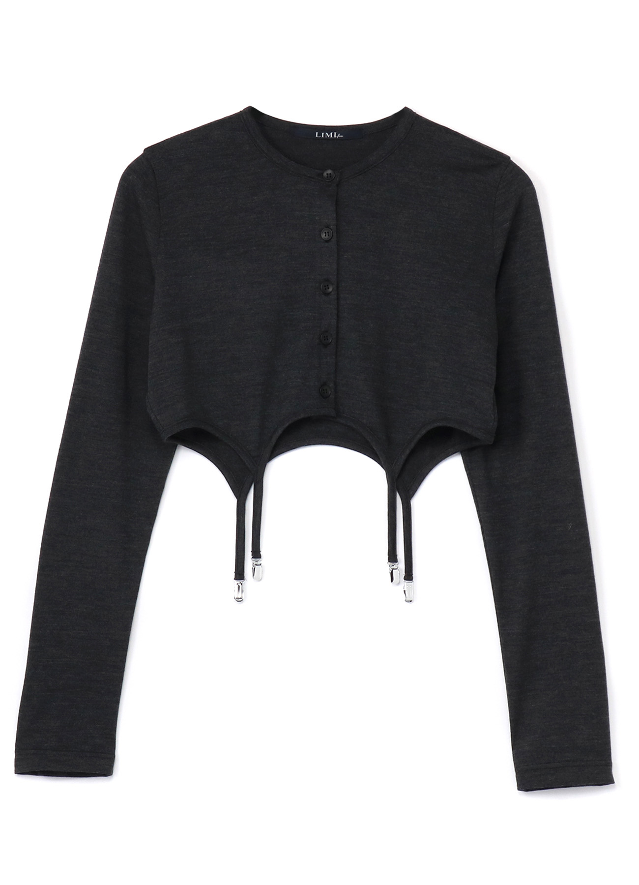 Silky Wool Plain stitch Suspender Cardigan