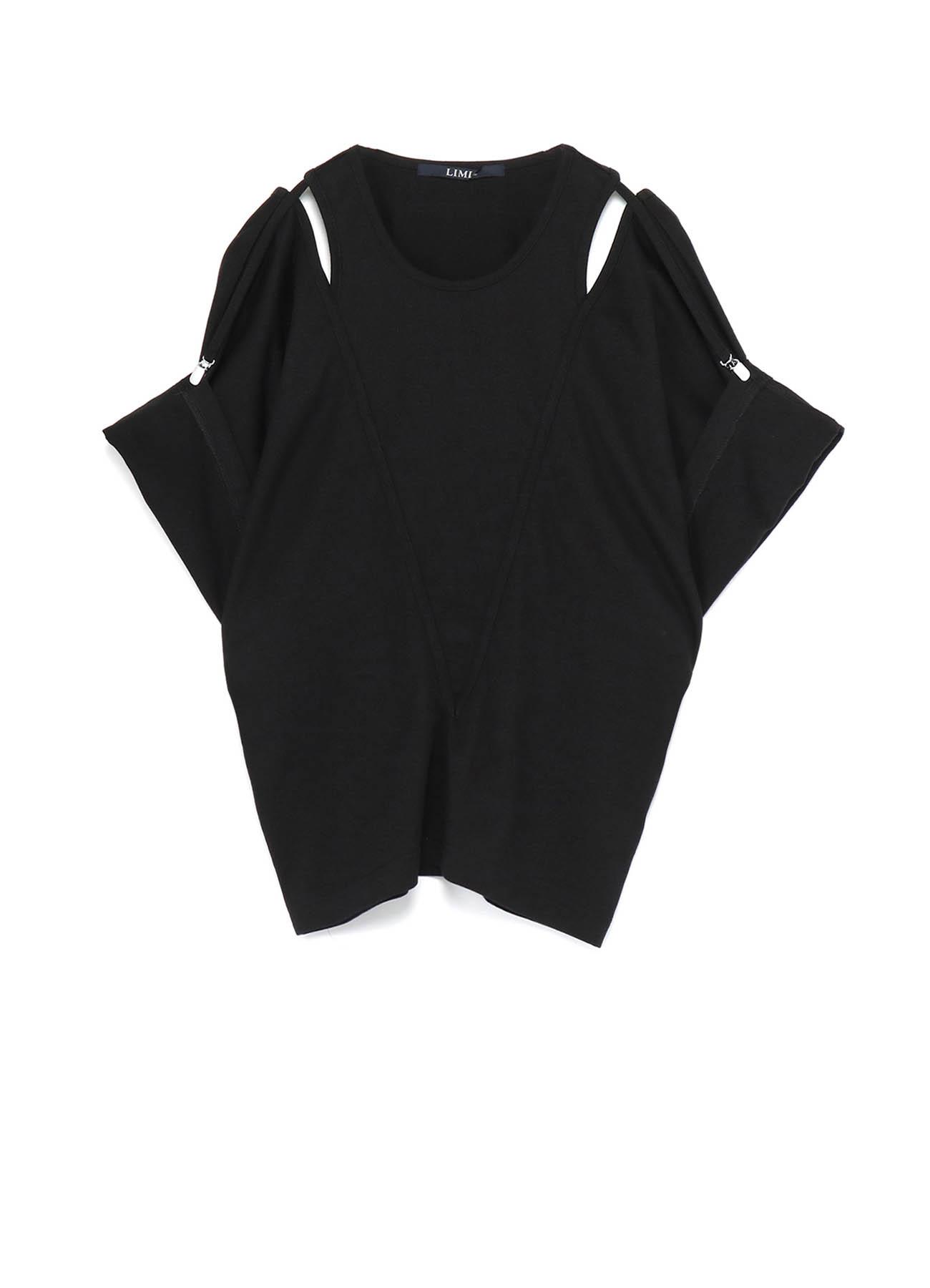 40/2 Cotton Plain stitch Suspender Slit T-shirt