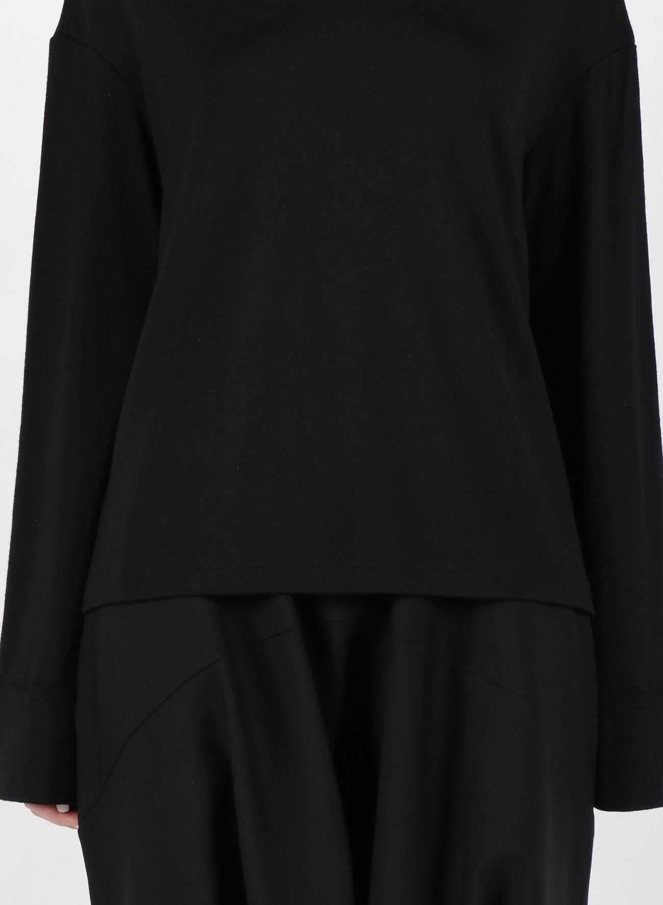 2/60 Wool Plain stitch Sloped Shoulder T-Shirt