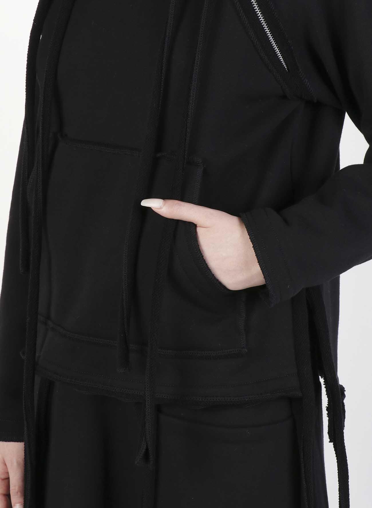 Cotton Mercerized Fleece Raglan Fastener T-Shirt