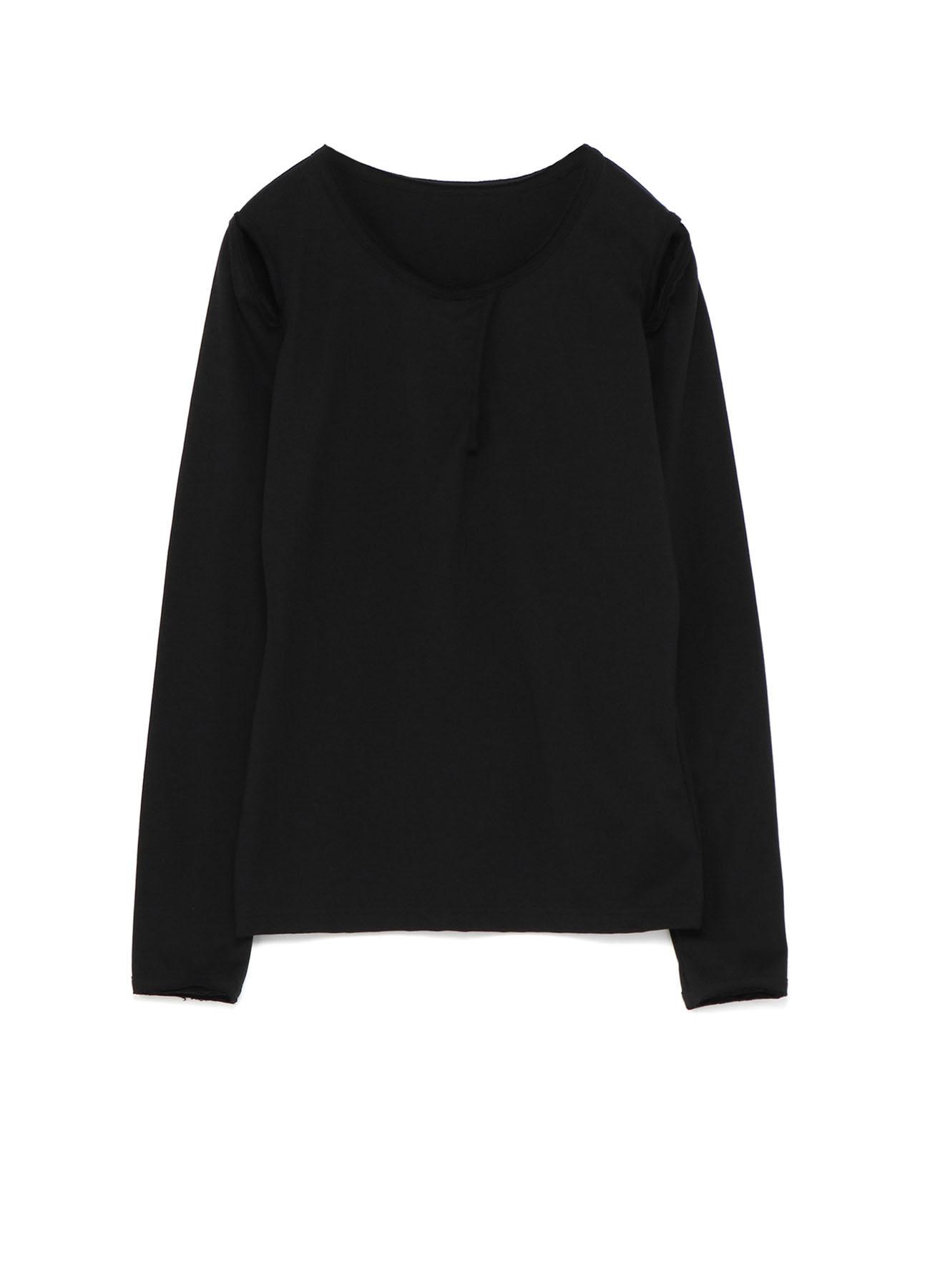 40/2 Cotton Plains titch Sleeve Slit T-Shirt A