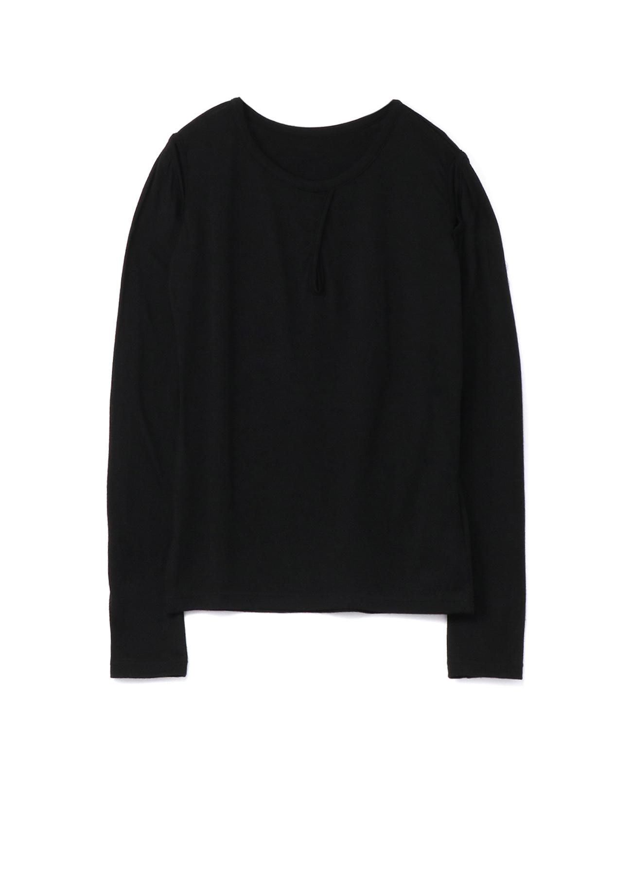 2/60 Wool Plain stitch Sleeve Slit T-Shirt A