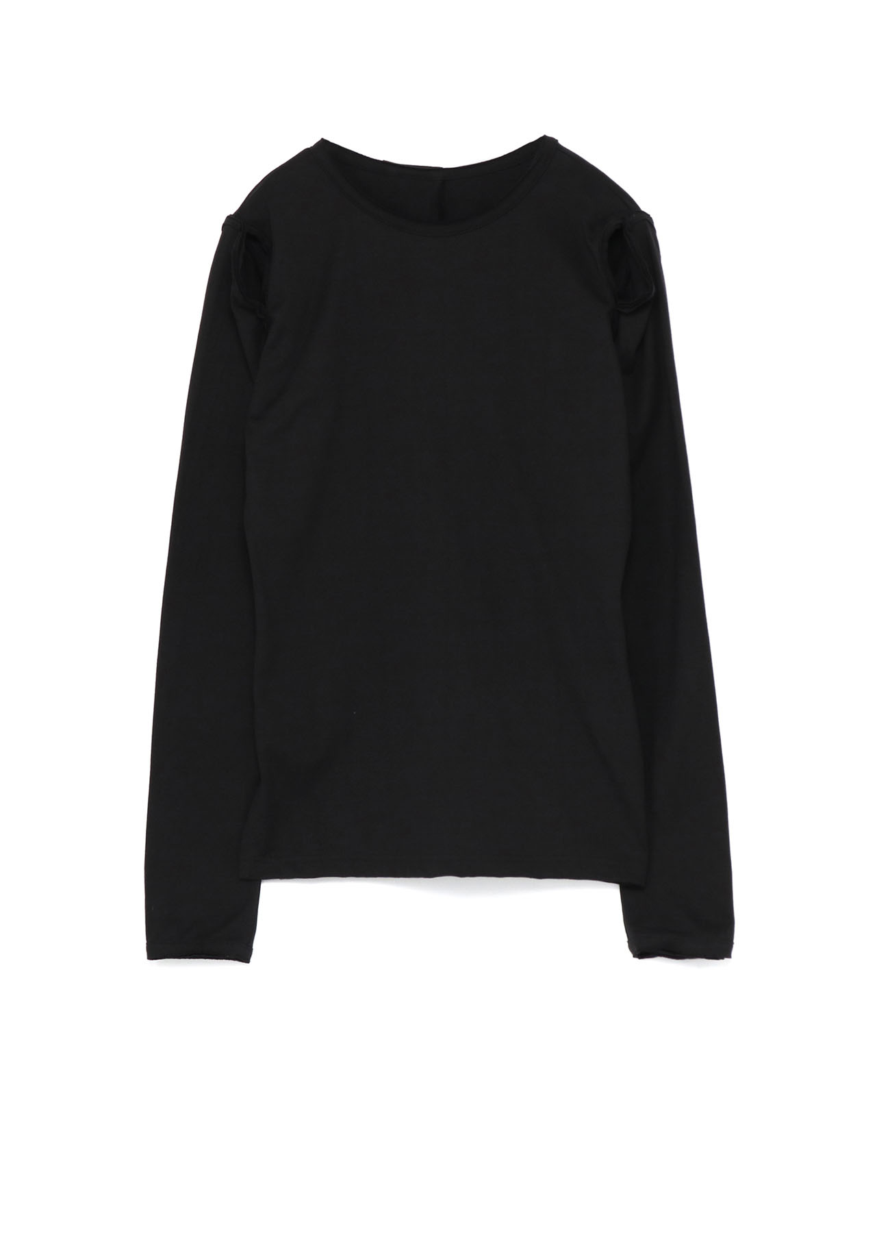 40/2 Cotton Plain stitch Sleeve Slit T-Shirt B