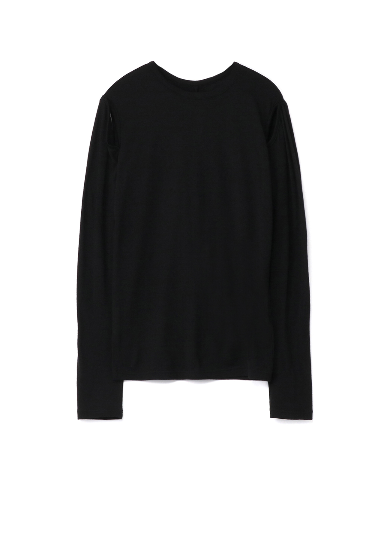 2/60 Wool Plain stitch Sleeve Slit T-Shirt B