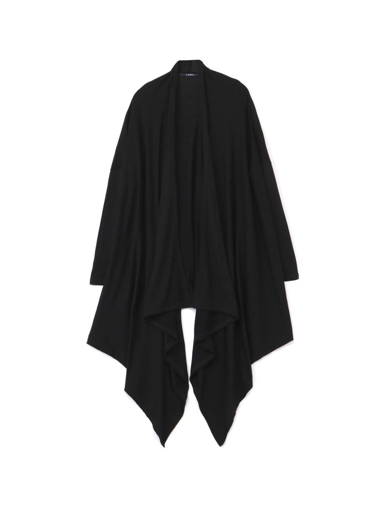 F-2/60 Wool Plain stitch Drape Long Cardigan