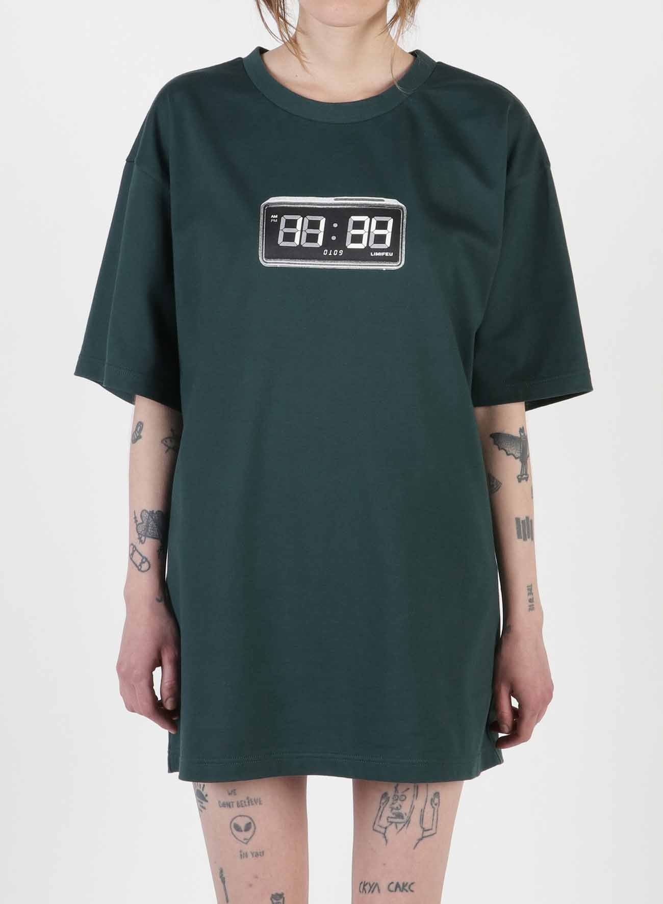 Clock Print Oversized T-Shirt