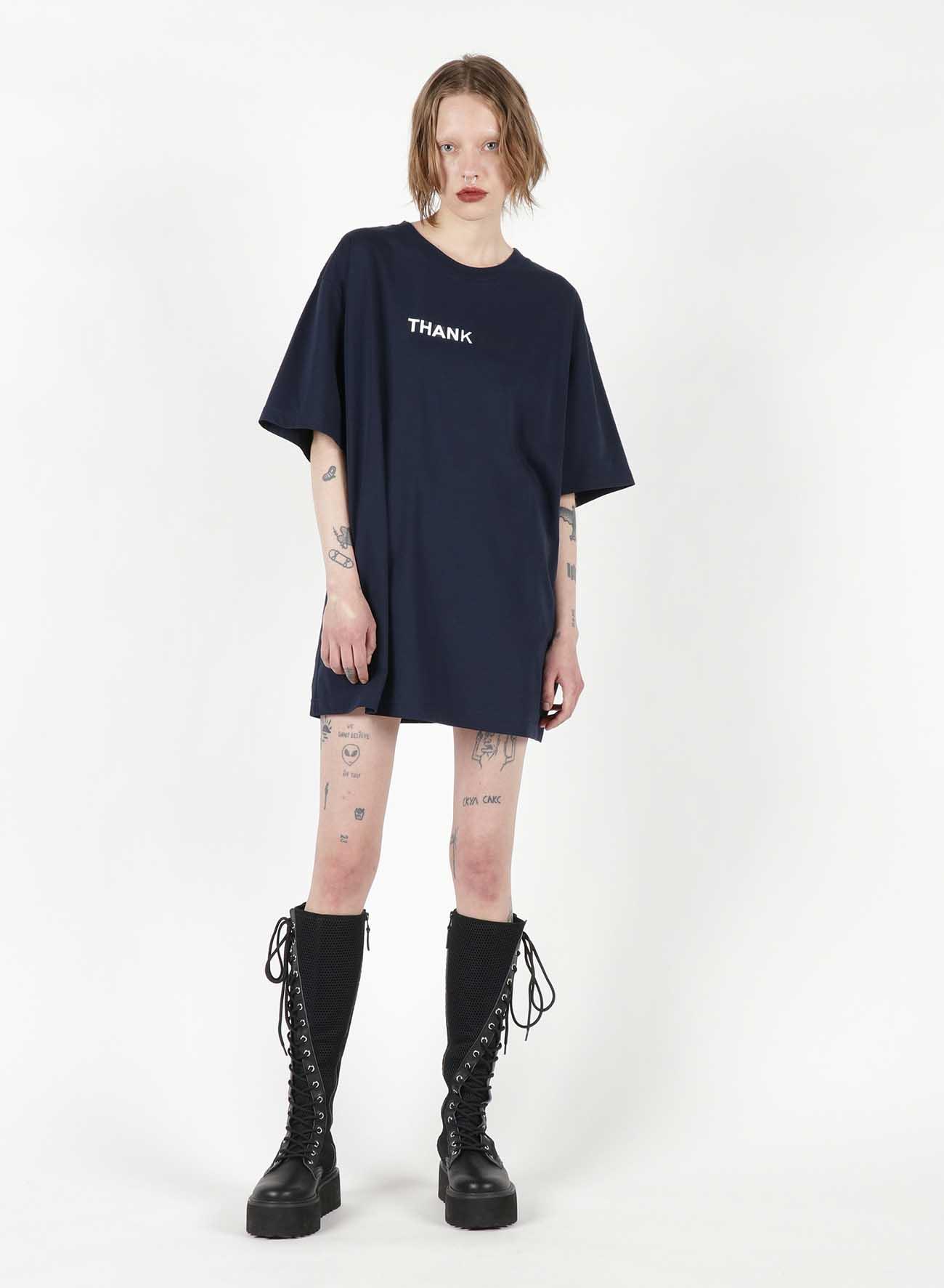 Fu*k You Print Oversized T-Shirt
