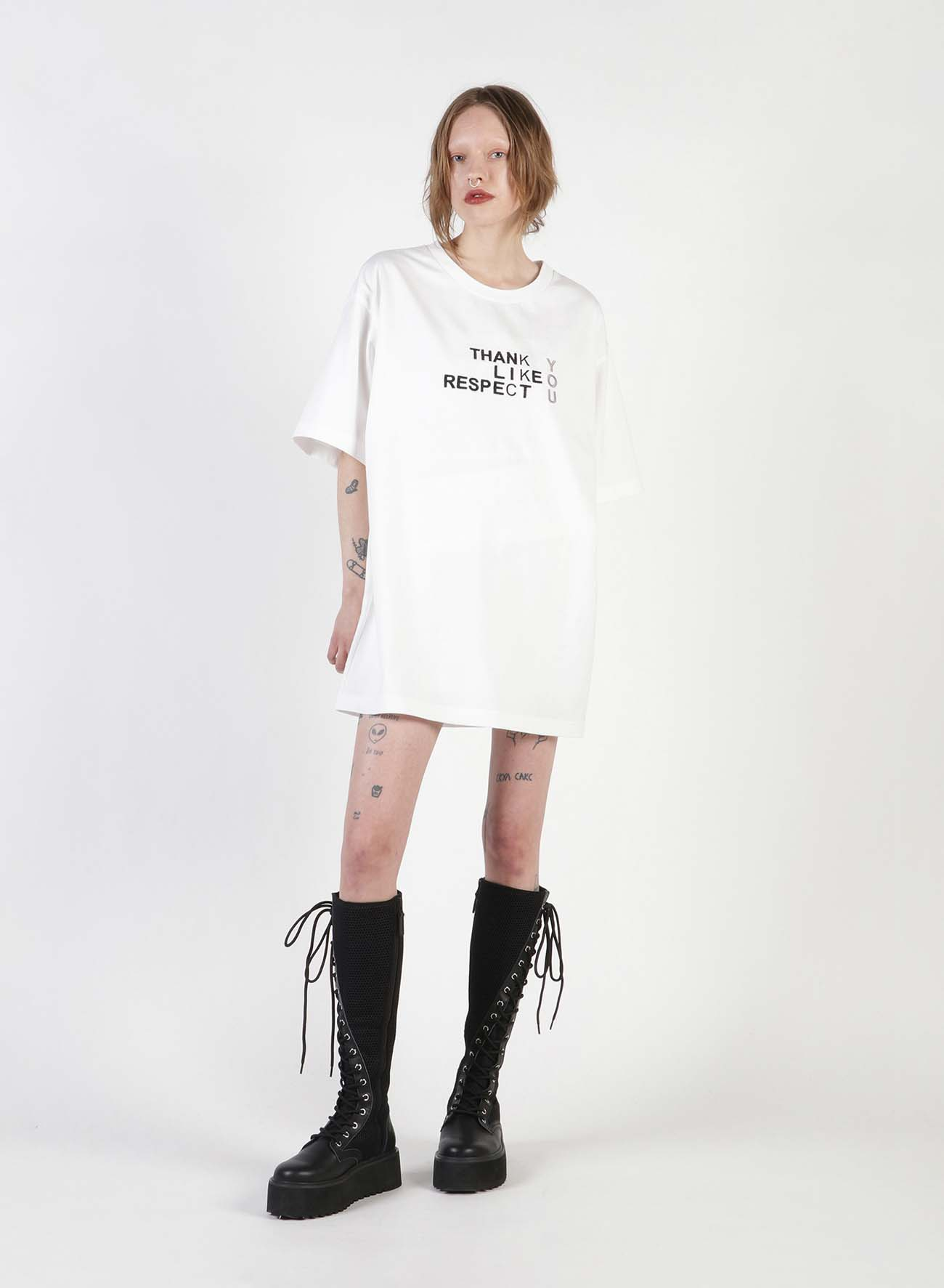 FU*K YOU Embroidery Oversized T-Shirt