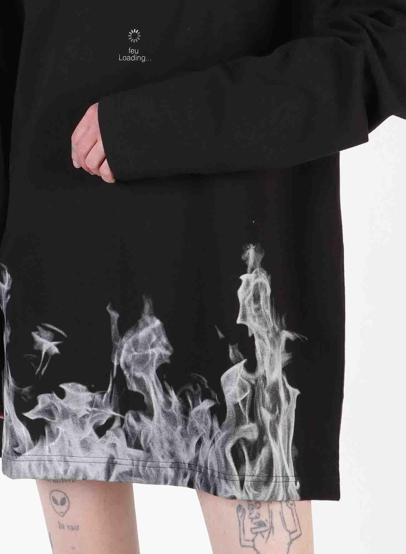 feu Loading Print Oversized Long T-Shirt