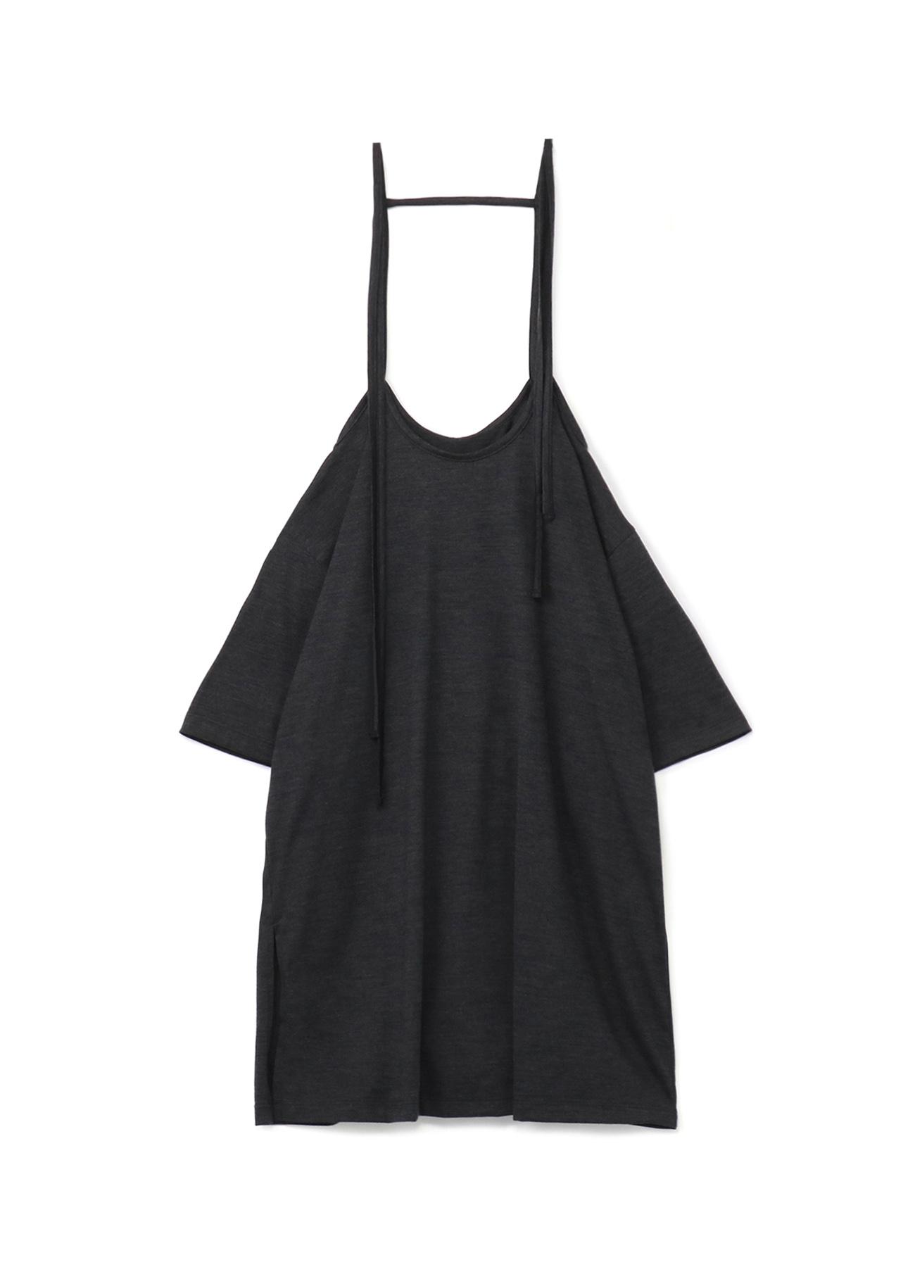 Silky Wool Plain stitch Suspender Hanging Skirt