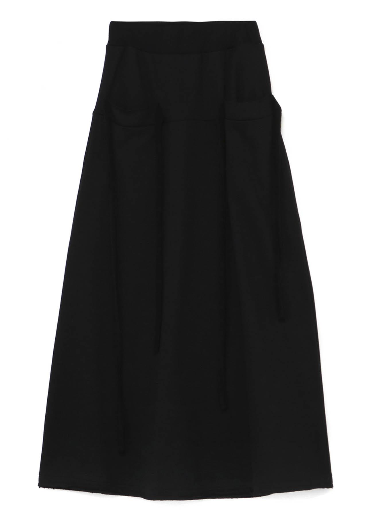 Cotton Mercerized Fleece String Pocket Skirt