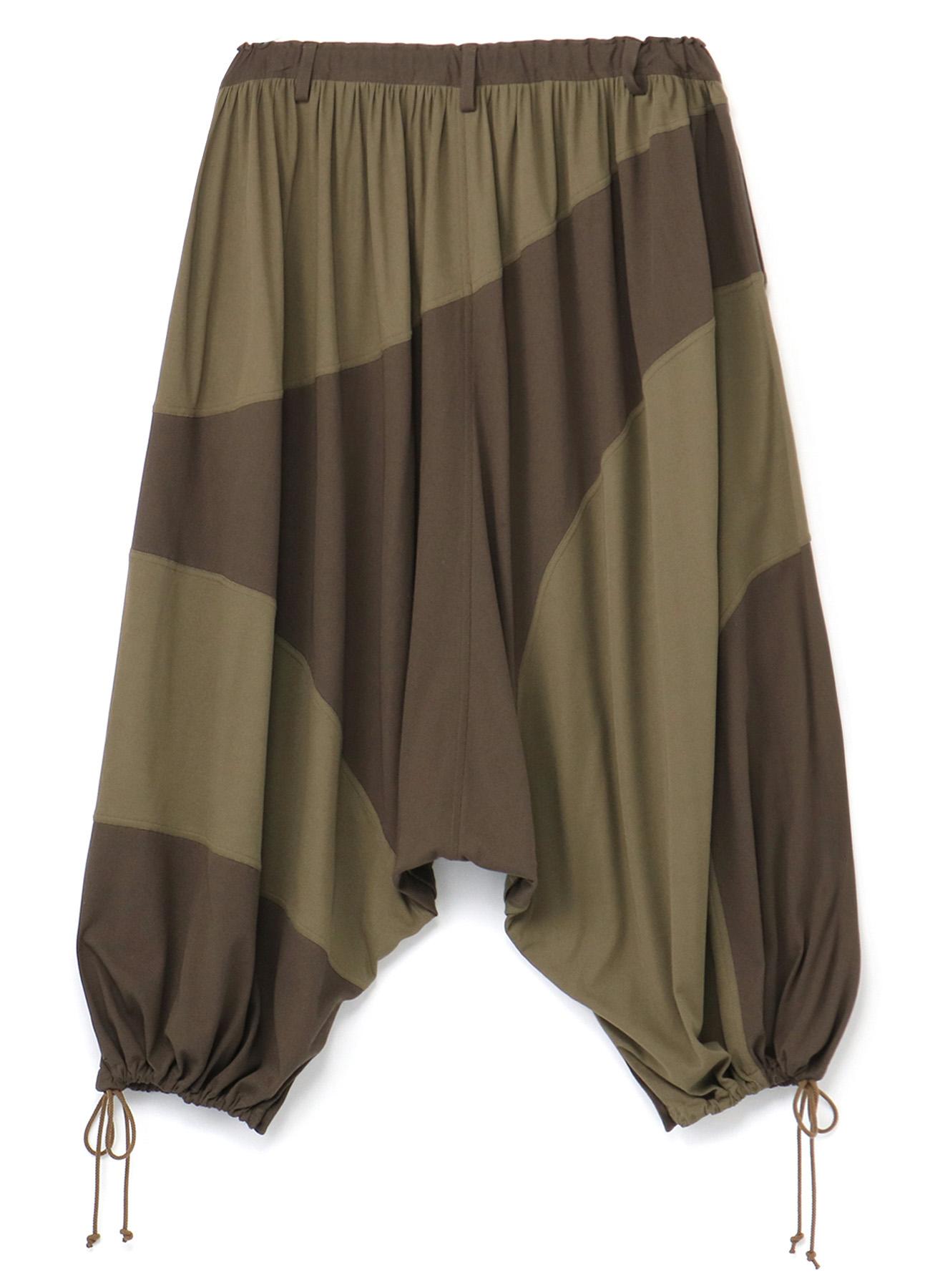 Cotton Felt Combination Panel Pants