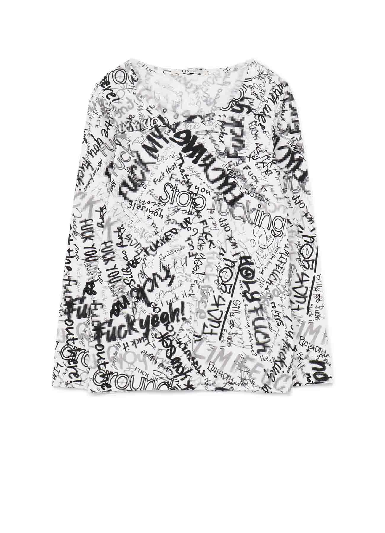 Mosaic FU*K Print 1 Basic Long T-Shirt