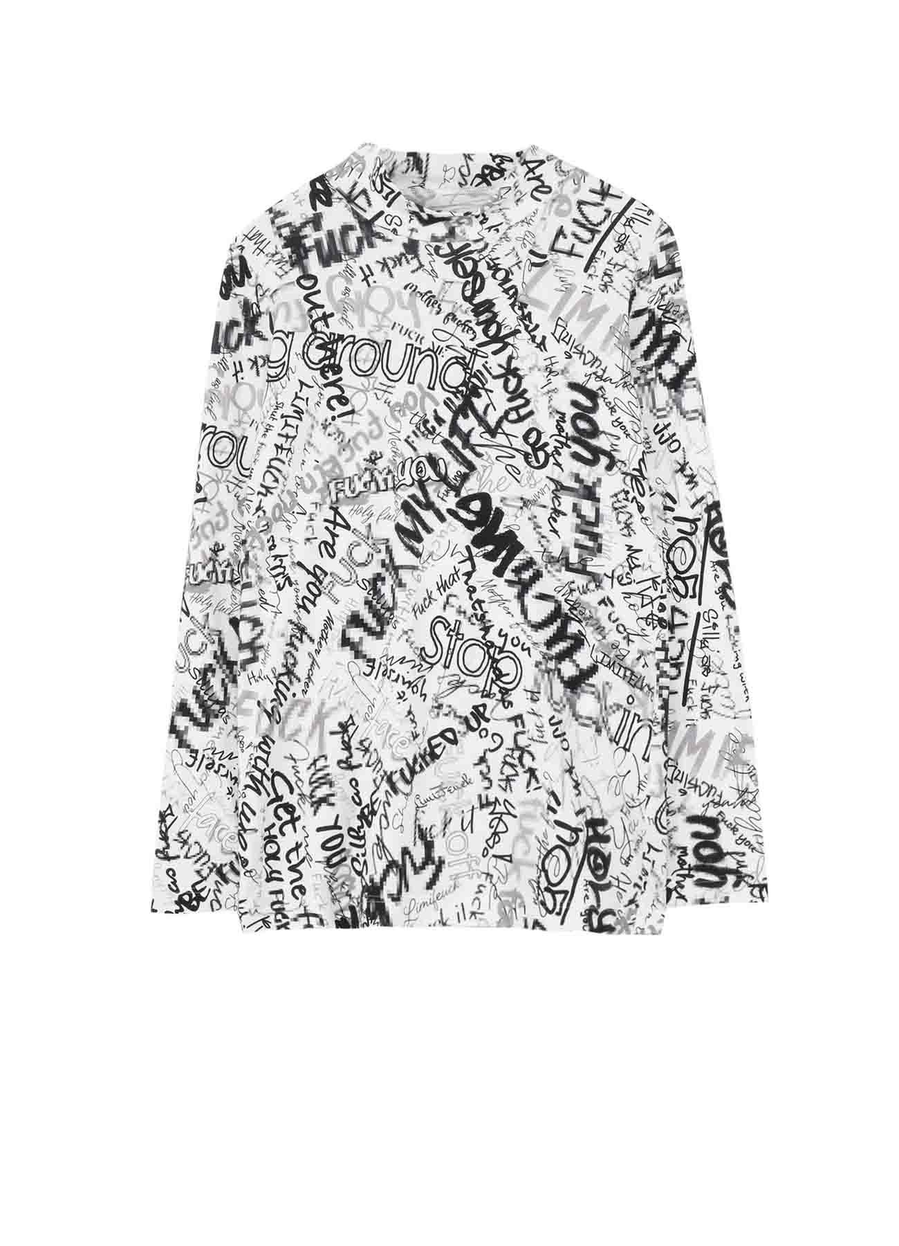Mosaic FU*K Print 1 Basic Highneck T-Shirt
