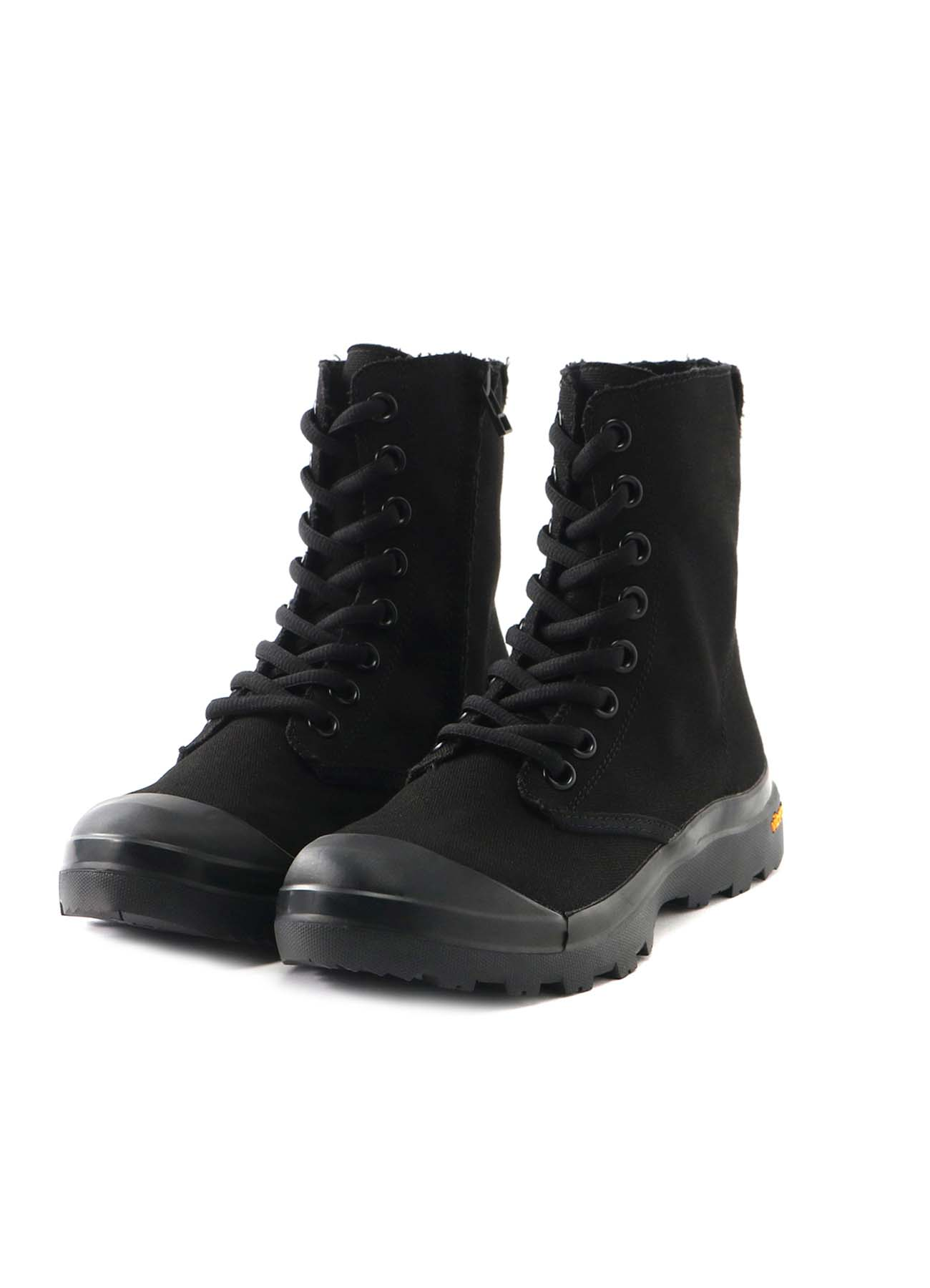 NO. 8 CANVAS A LACE UP FASTENER BOOTS