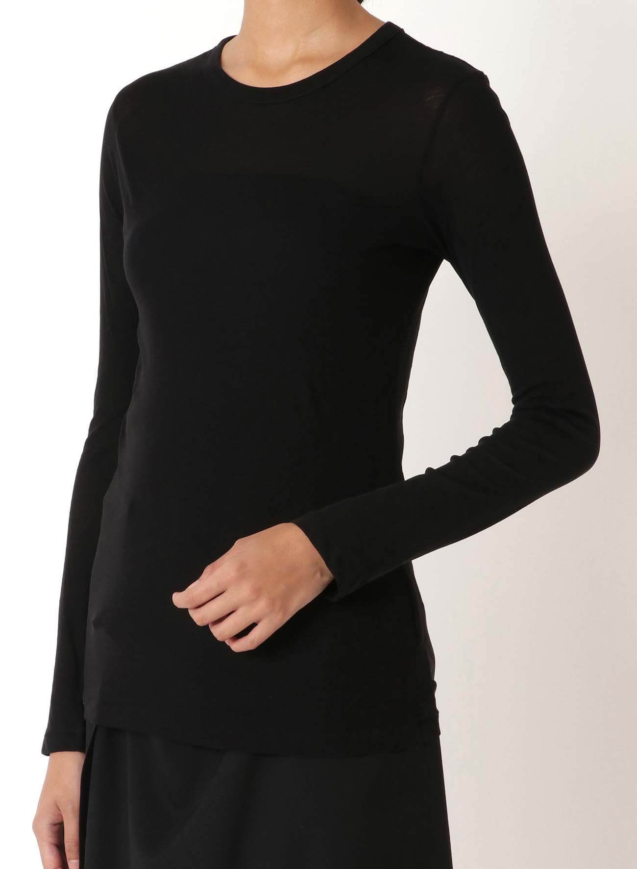 801-COSMORAMA PLAIN STITCH ROUND NECK LONG SLEEVE