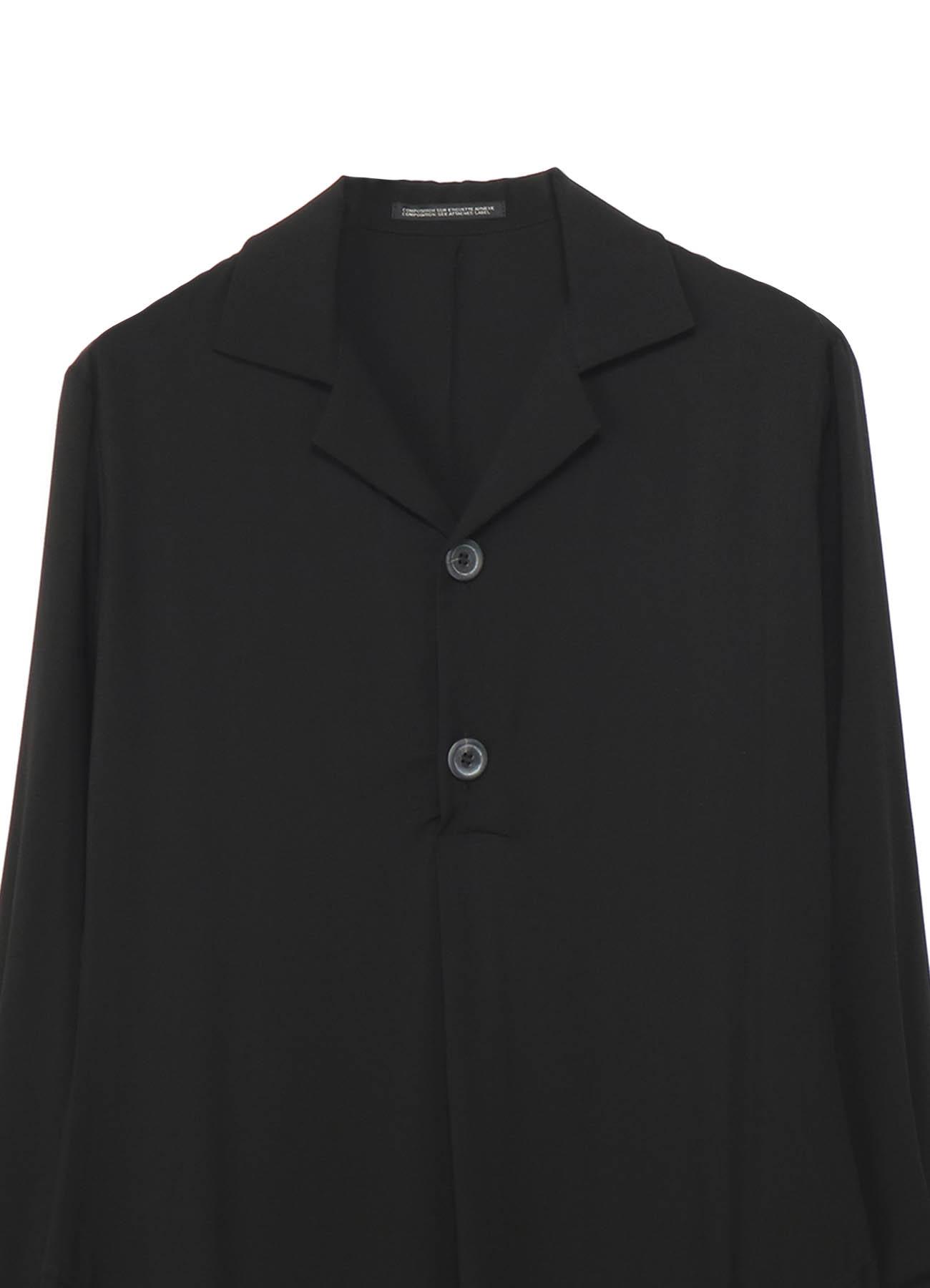 スパンレーヨン 袖ダブルフレアシャツ