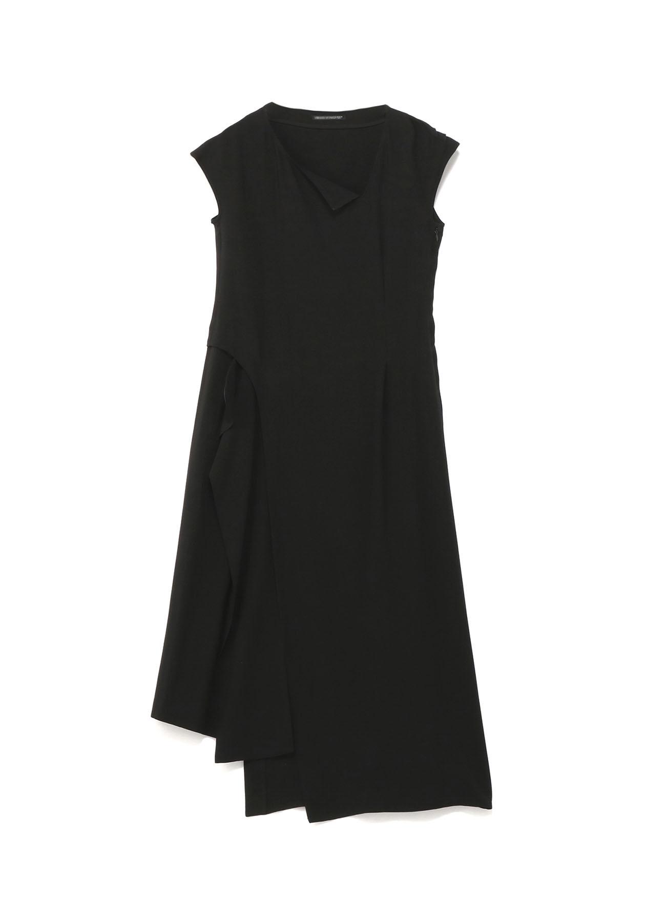 強撚ギャバフラシ布付ドレス