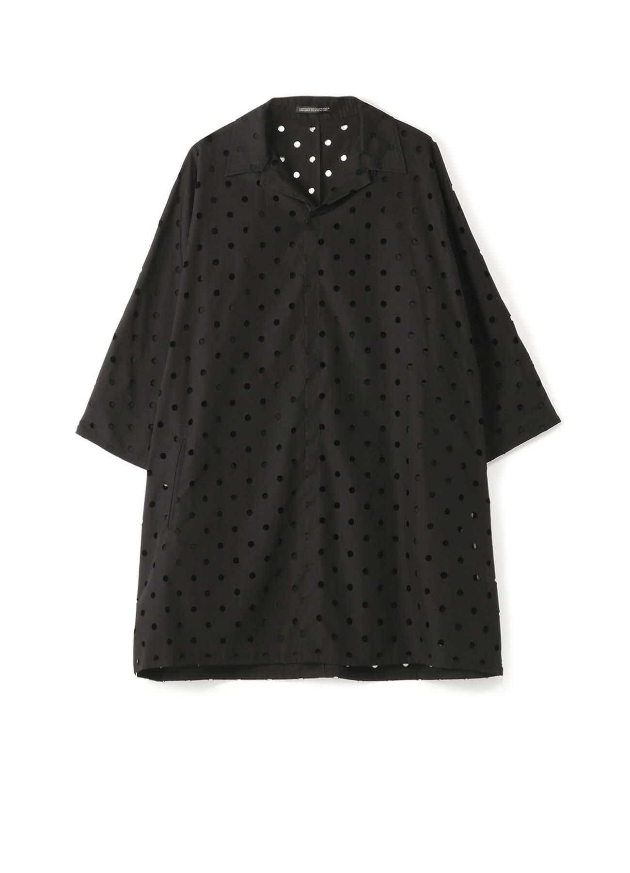 パンチングレース ビッグシャツドレス